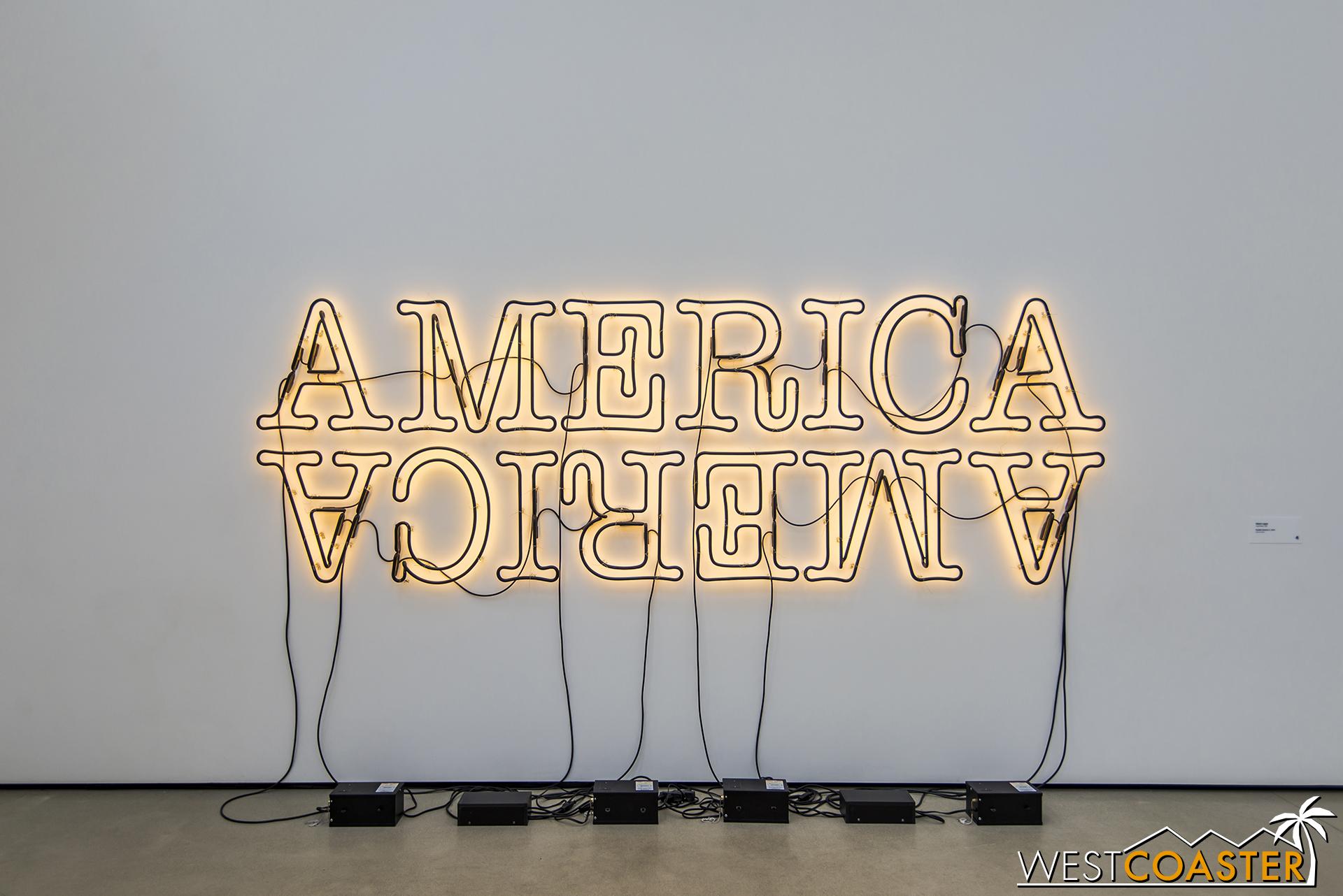 Glenn Ligon's  Double America 2 .
