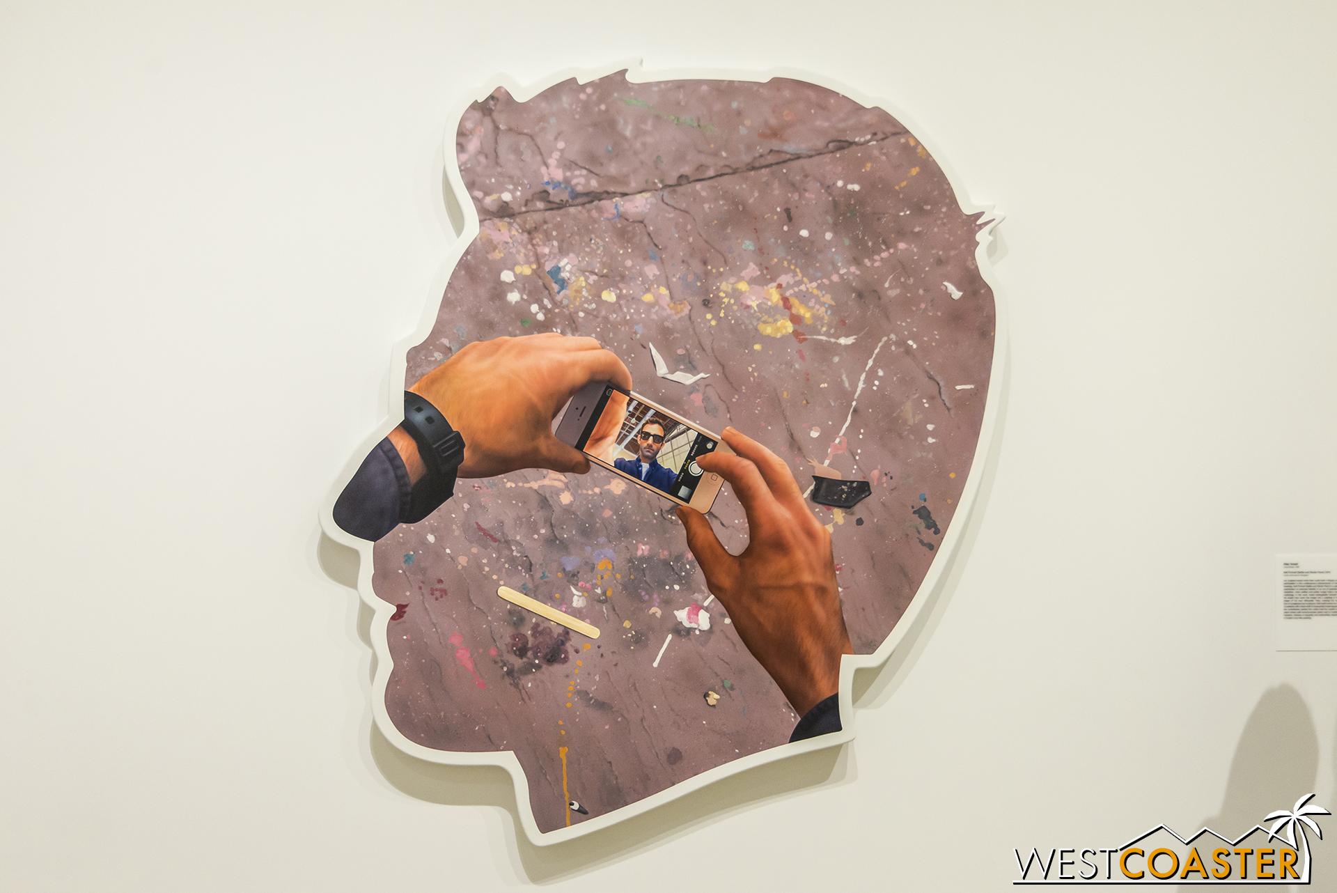 Alex Israel's  Self Portrait (Selif and Studio Floor) .