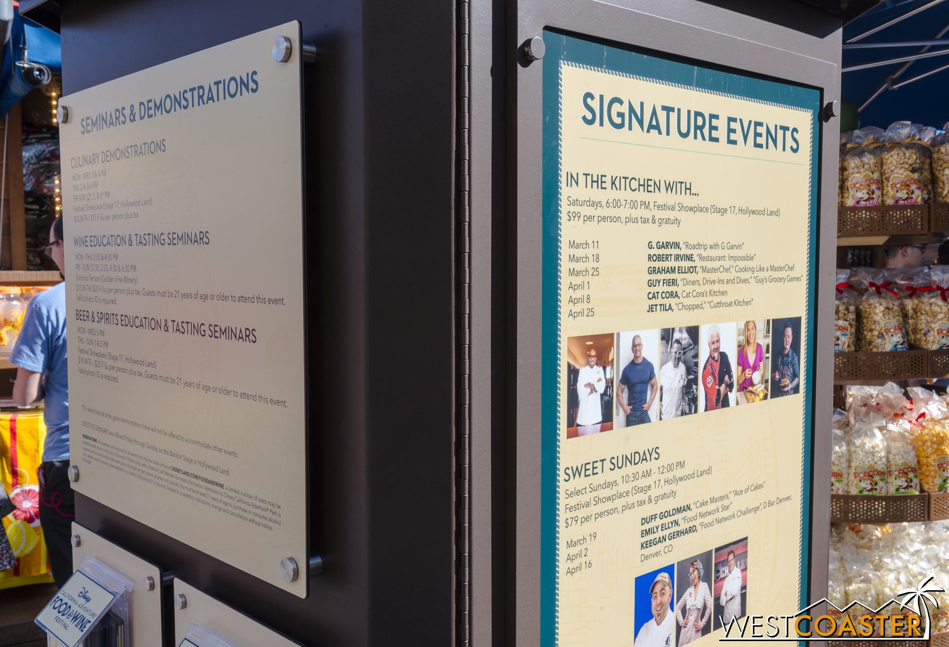 There are multiple displays around the Festival areas with listings of the events happening for the run.