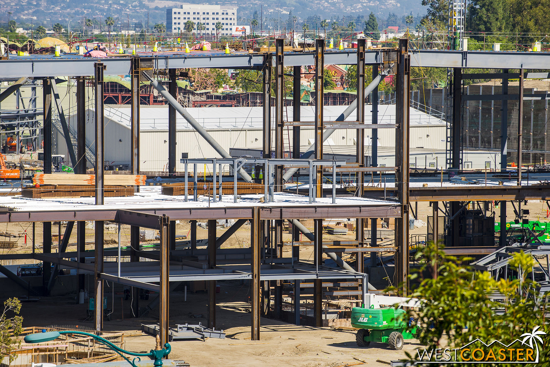 And intermediate steel framing is going up on each floor.
