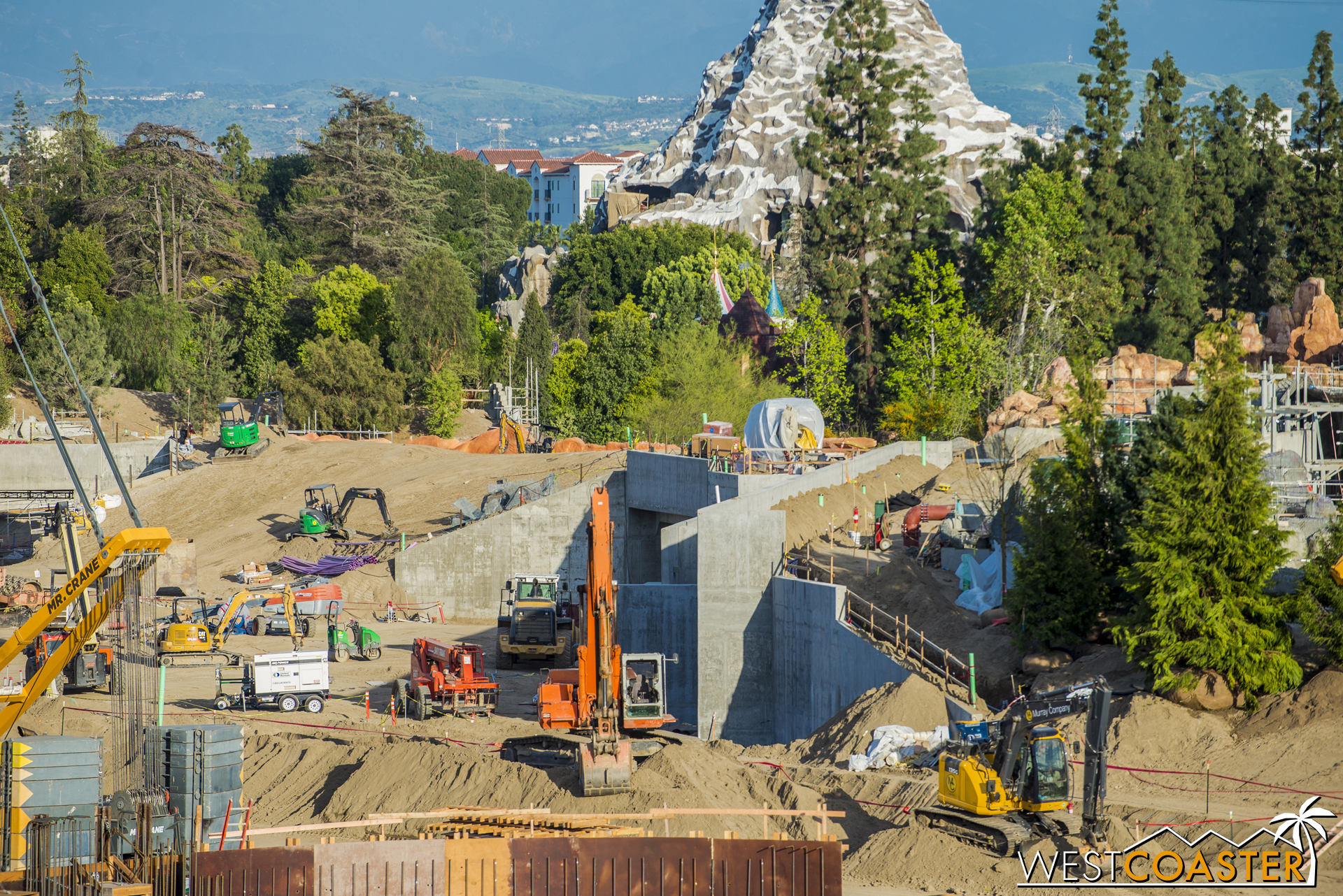 One of the two tunnels forming the main entrance off Big Thunder Trail.
