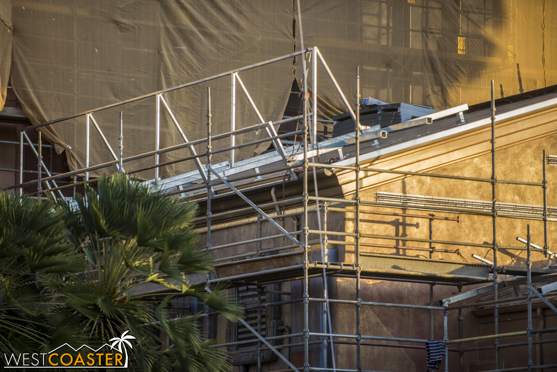 It looks like the sloped roof is getting some modifications to look less so.