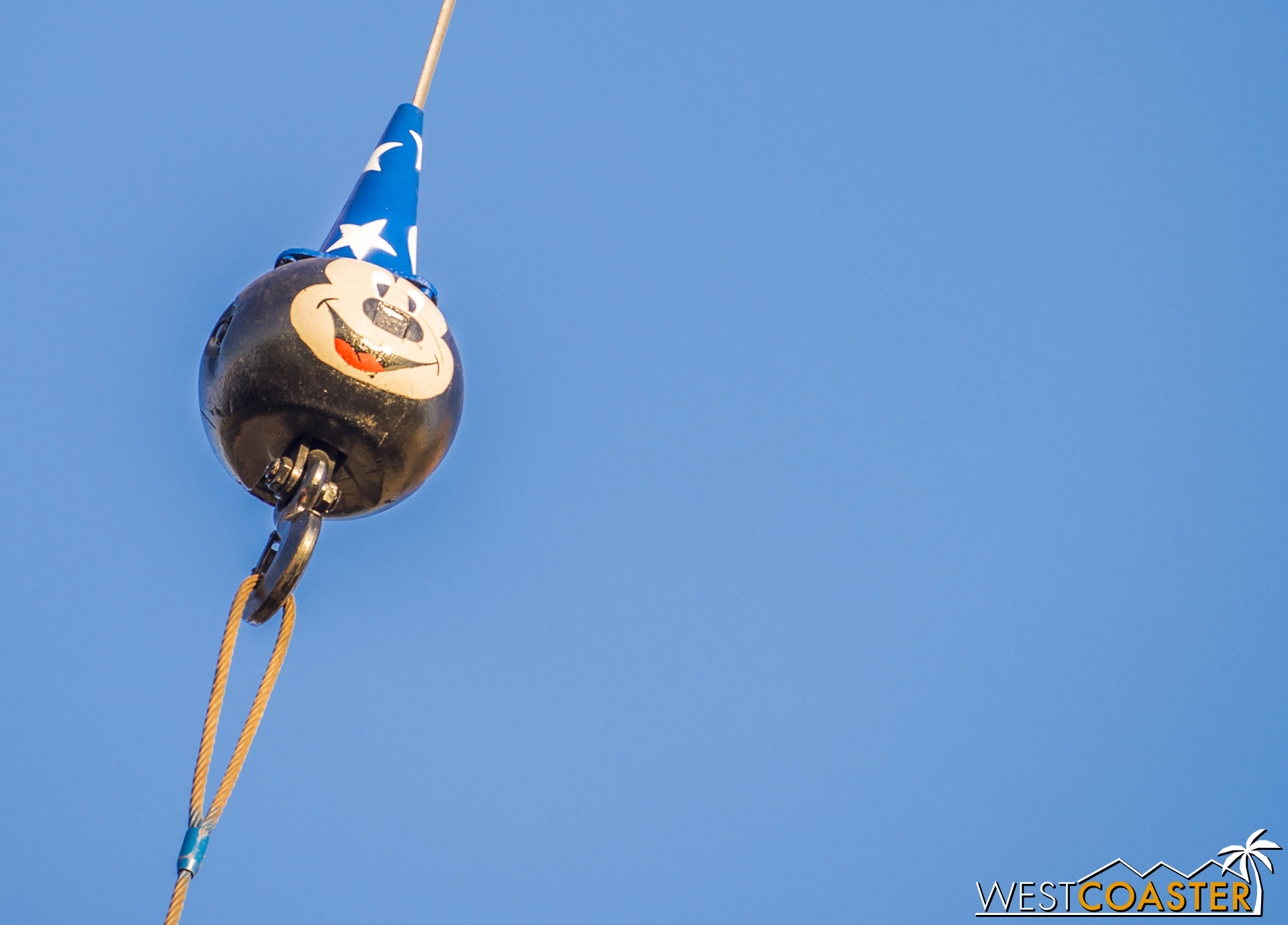Did you figure out the Hidden Mickey I referenced in the update two weeks ago? It was this cute Sorcerer Mickey hook at the crane hoisting the banner!