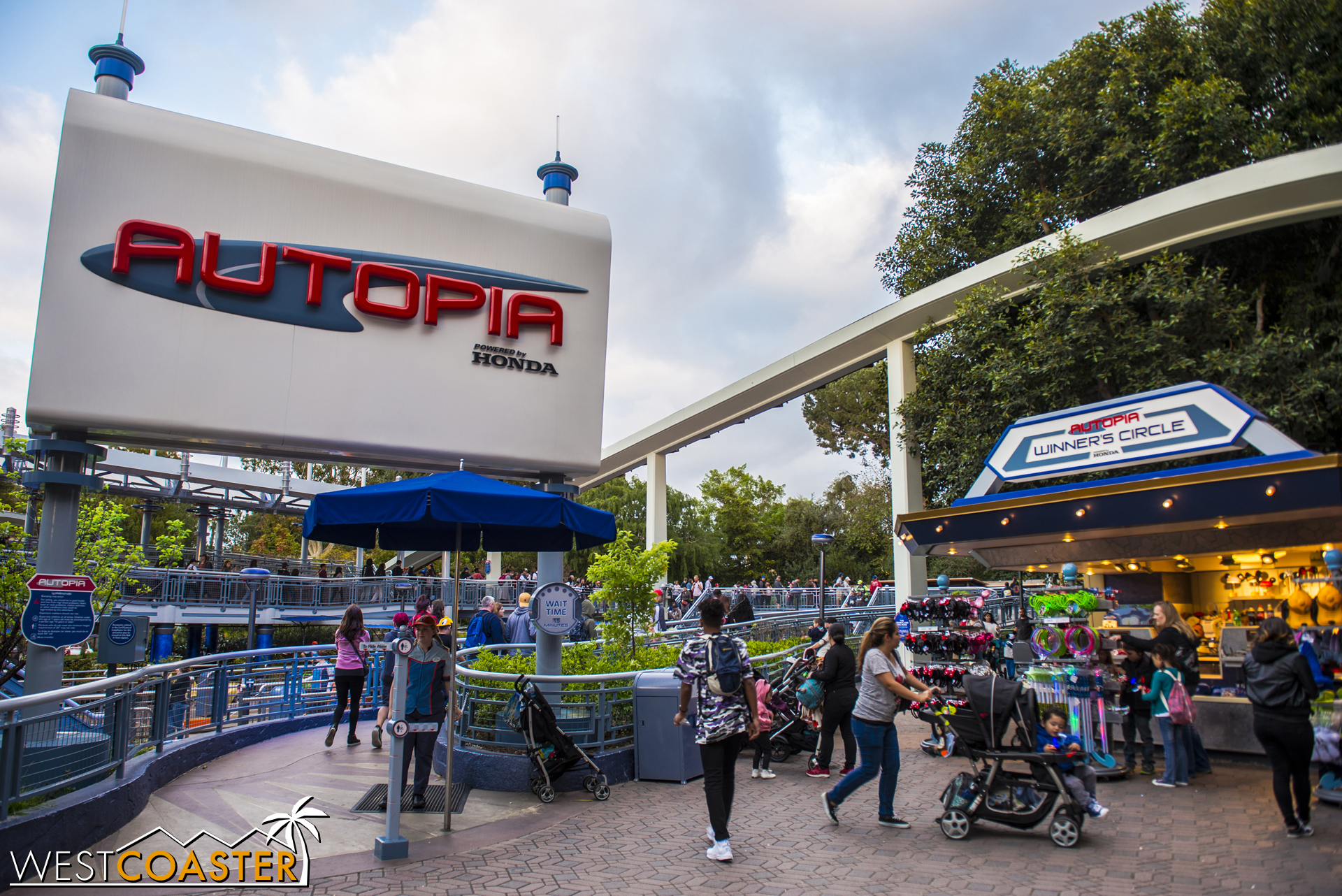Over in Tomorrowland, the Autopia has been given a little freshening up.