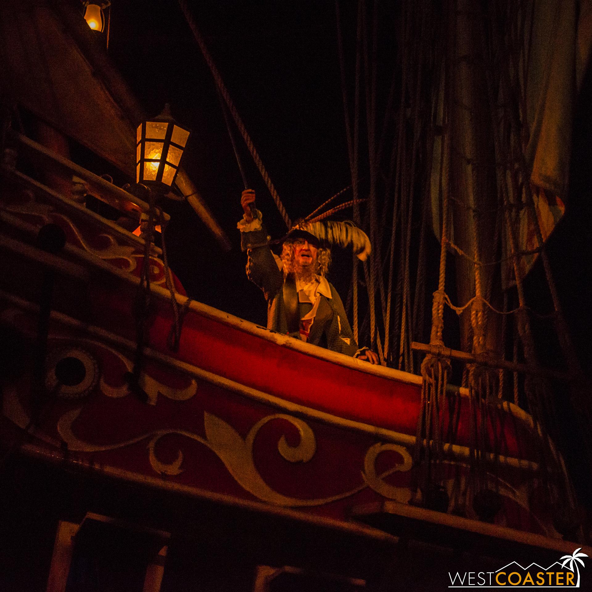 Captain Barbossa demands the location of Jack Sparrow.