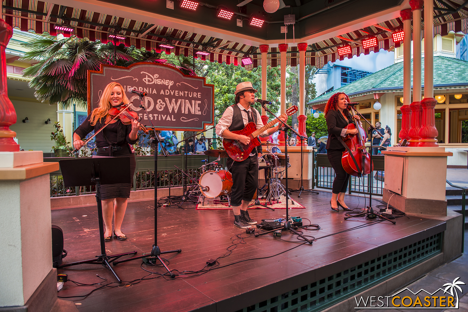 I didn't photograph this in the update two weeks ago, but I did mention that there was live music over at the Garden Grill bandstand area too, in addition to at Paradise Park.