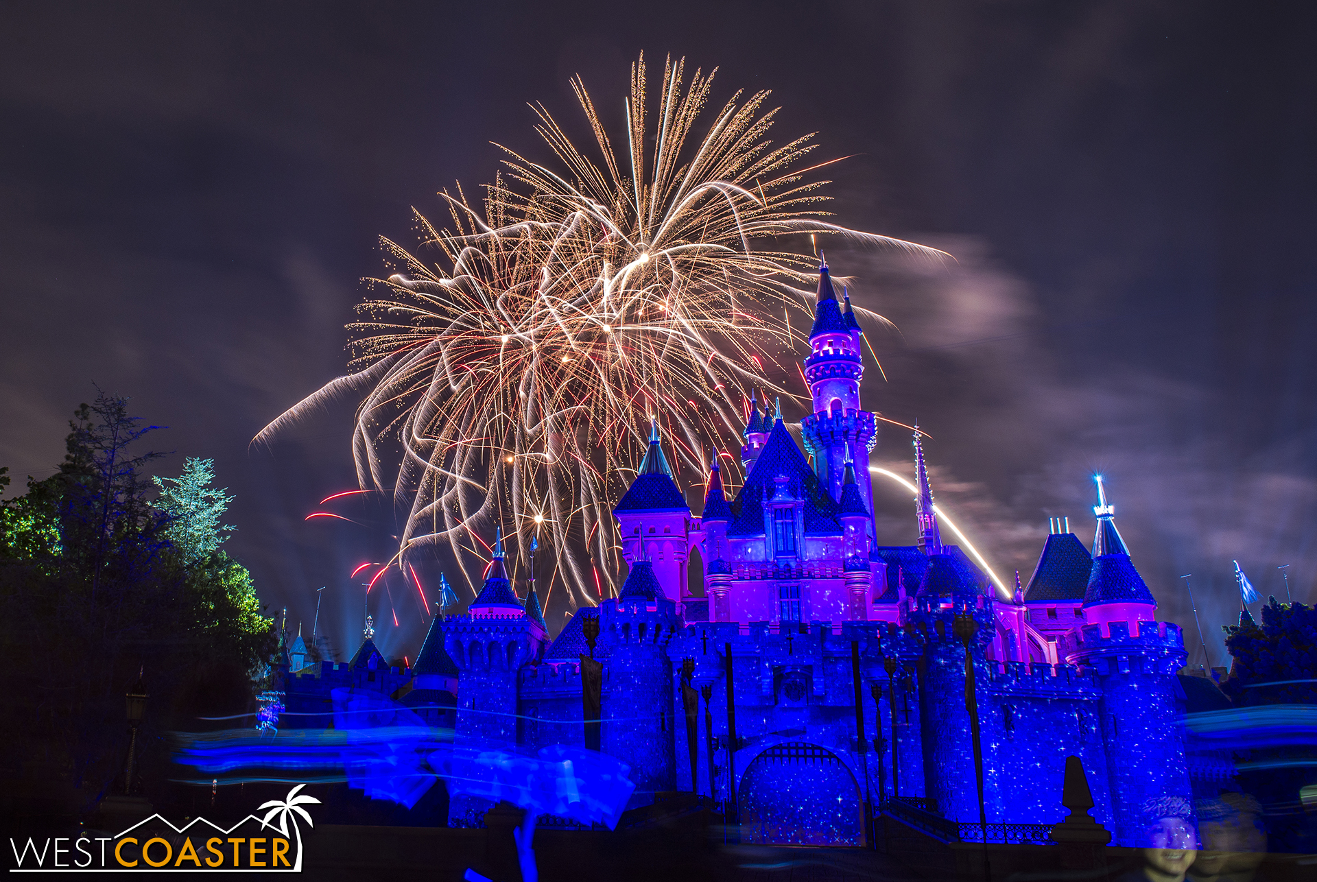 You can see the projections on the castle right from the get-go.