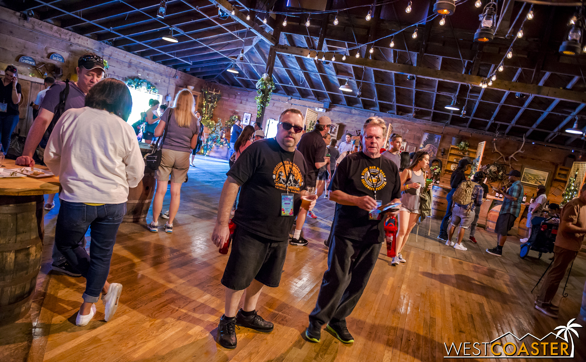 Among many others, the Midsummer Scream crew was on hand to check out all the wine goodies.
