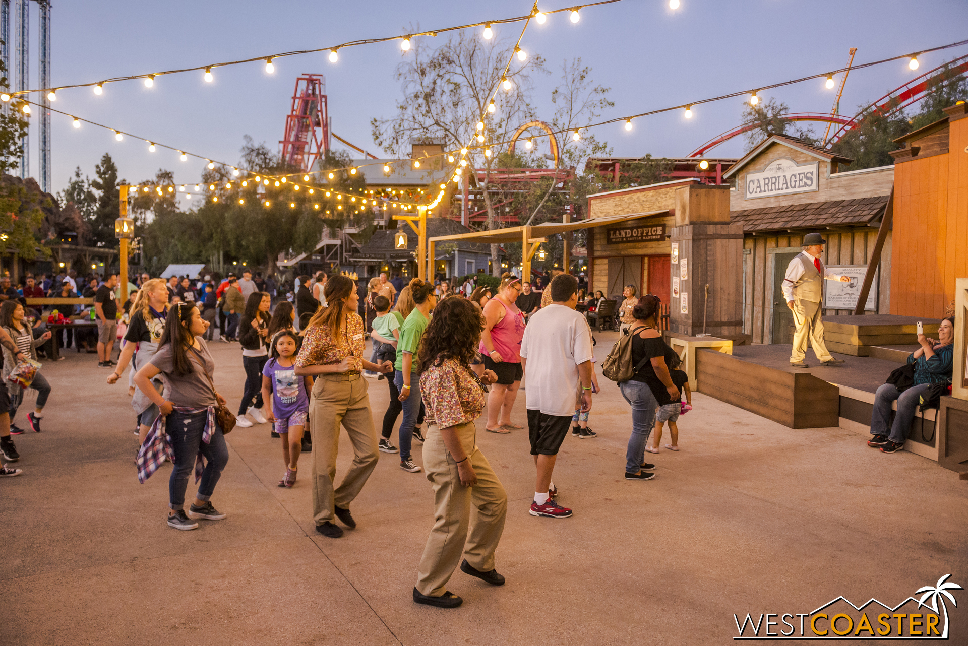 Similar to what happens at Ghost Town Alive!, Calico Park is a beacon of activity and energy.