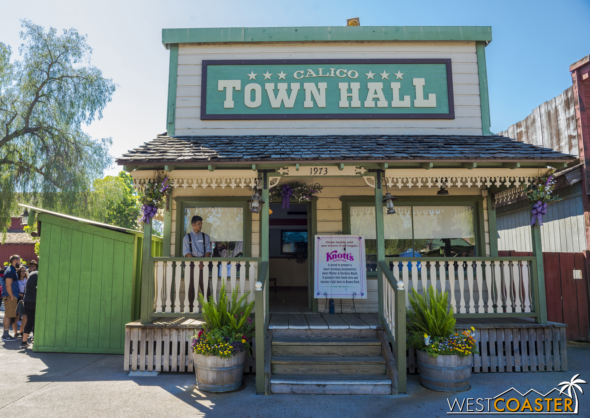 The History of the Boysenberry Presentation plays all day at the Calico Town Hall.
