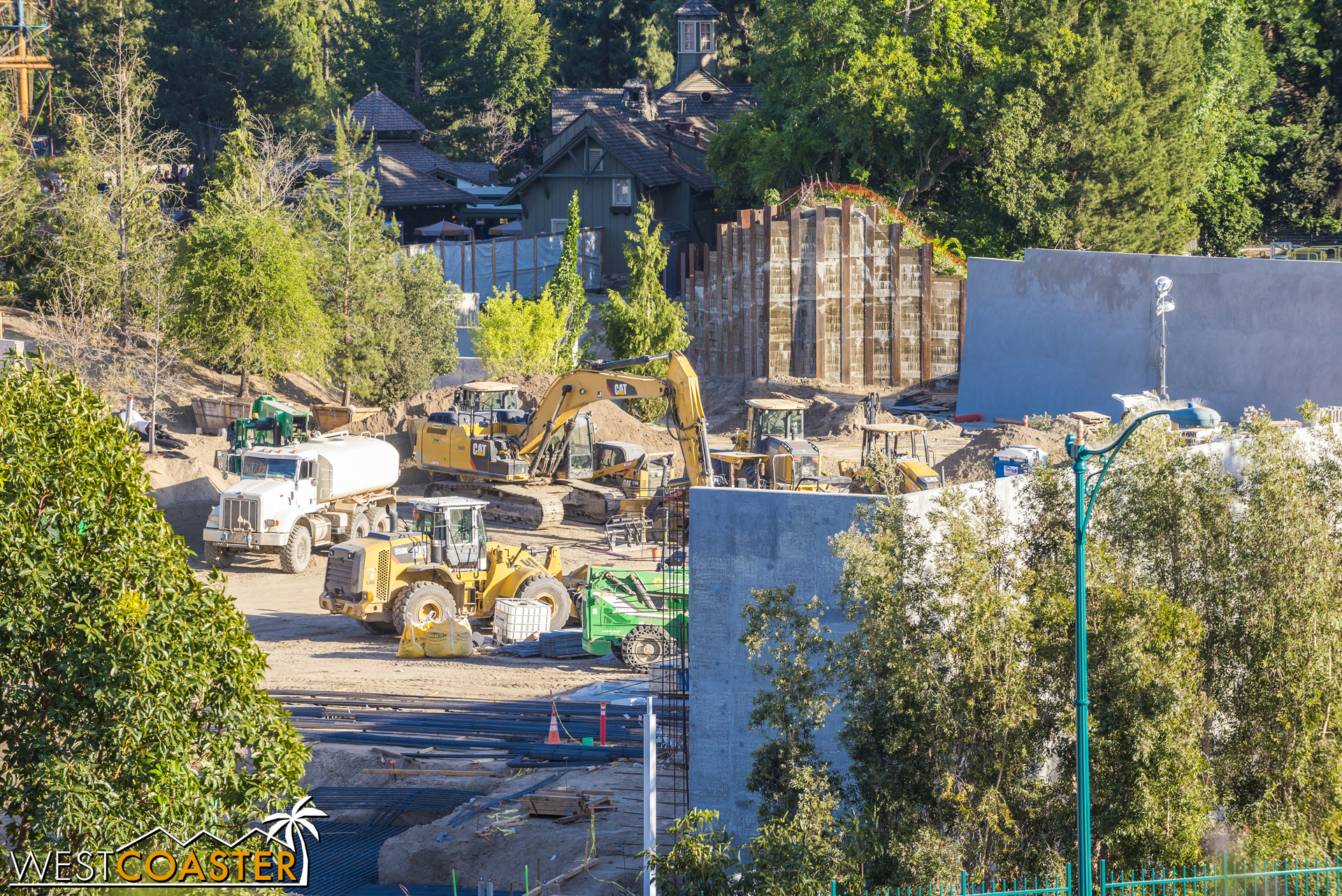 "But you can kind of make out progress on the Critter Country entrance into ""Star Wars"" Land."