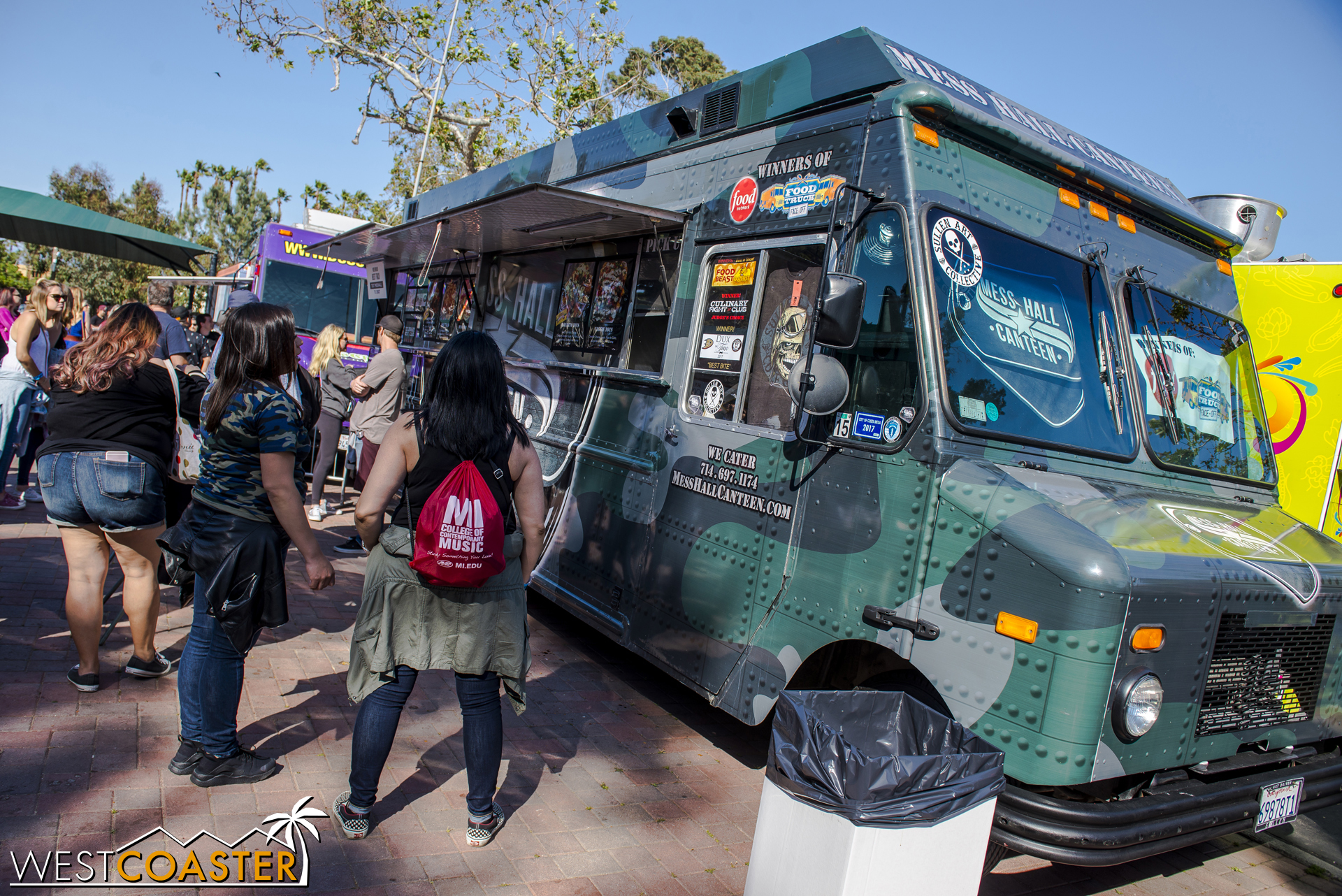 More food trucks at the interior of the grounds.