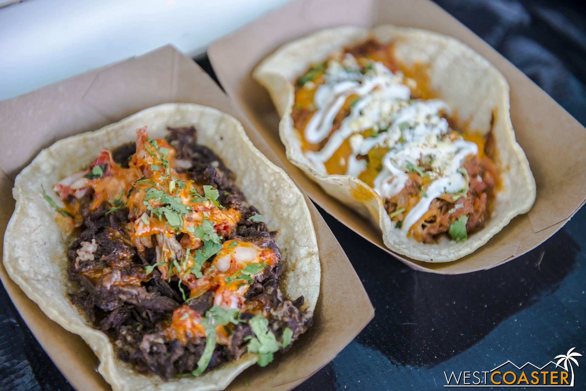 I had a Korean BBQ beef taco from The Kroft (which can be found at the Packing House in Anaheim and at The District in Tustin).  It was fantastic.