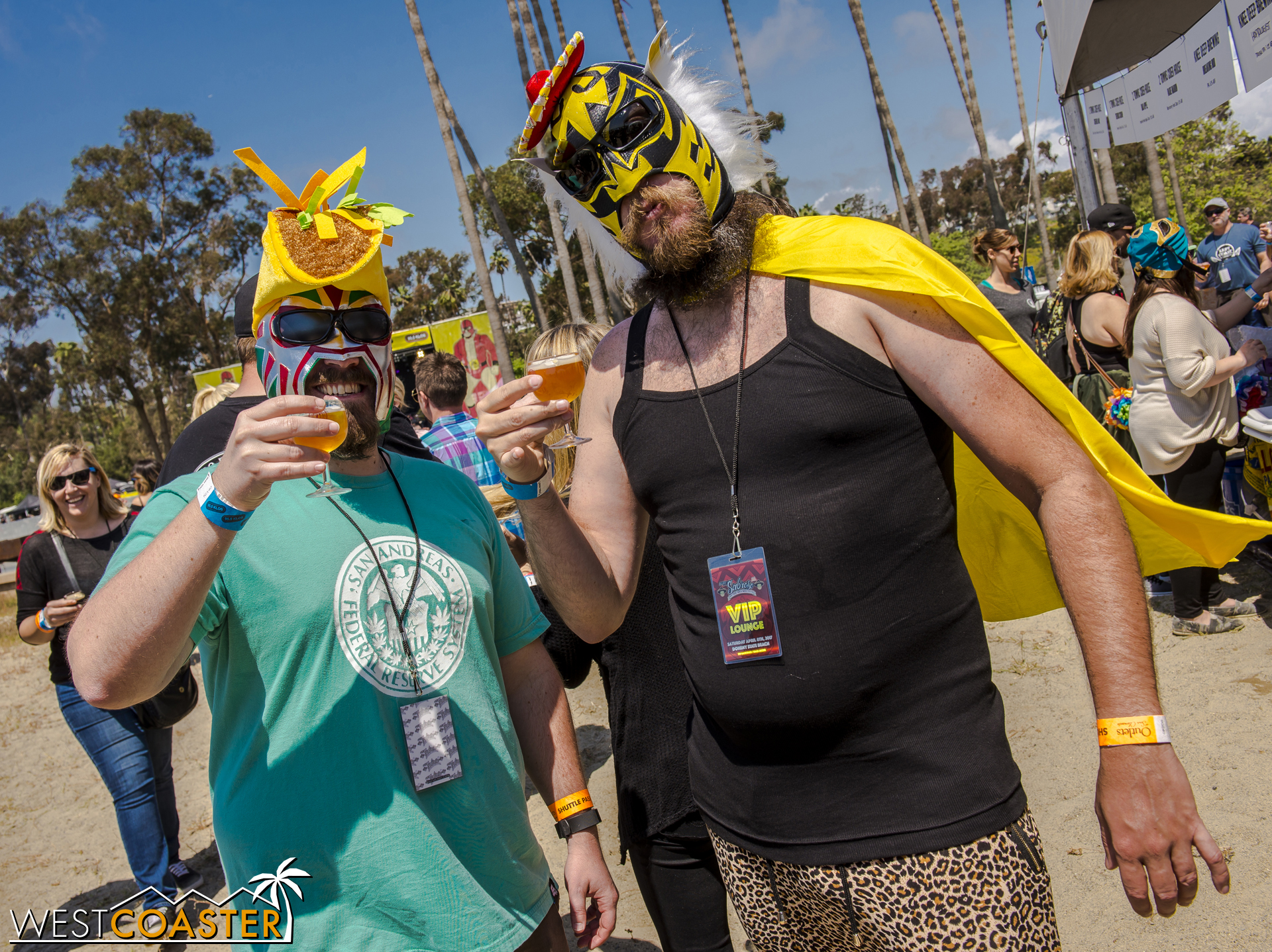Fan luchadors were plenty around the festival.