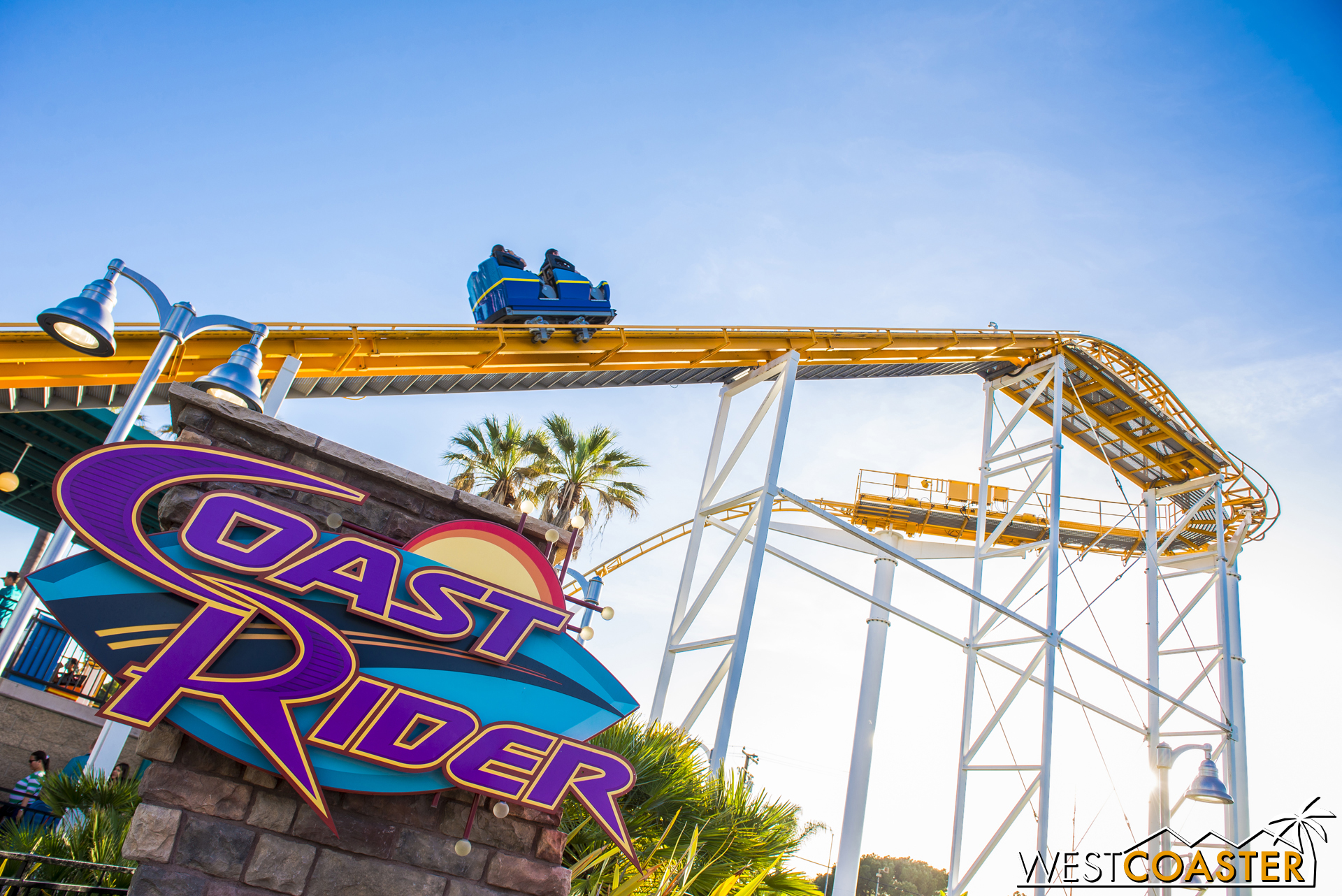 I didn't ride Coast Rider to take actual photos of the change...