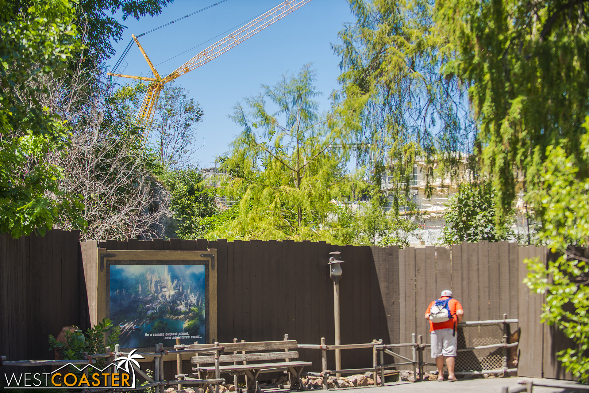 The Disneyland Railroad will be chugging by this area too.