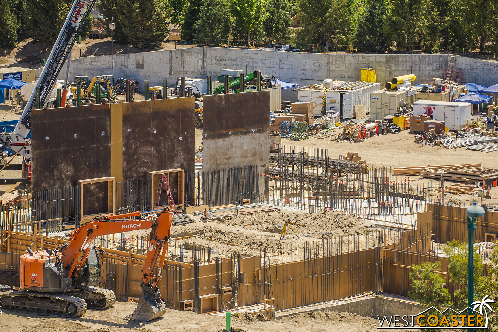And there's still more of the building complex to pour and build!
