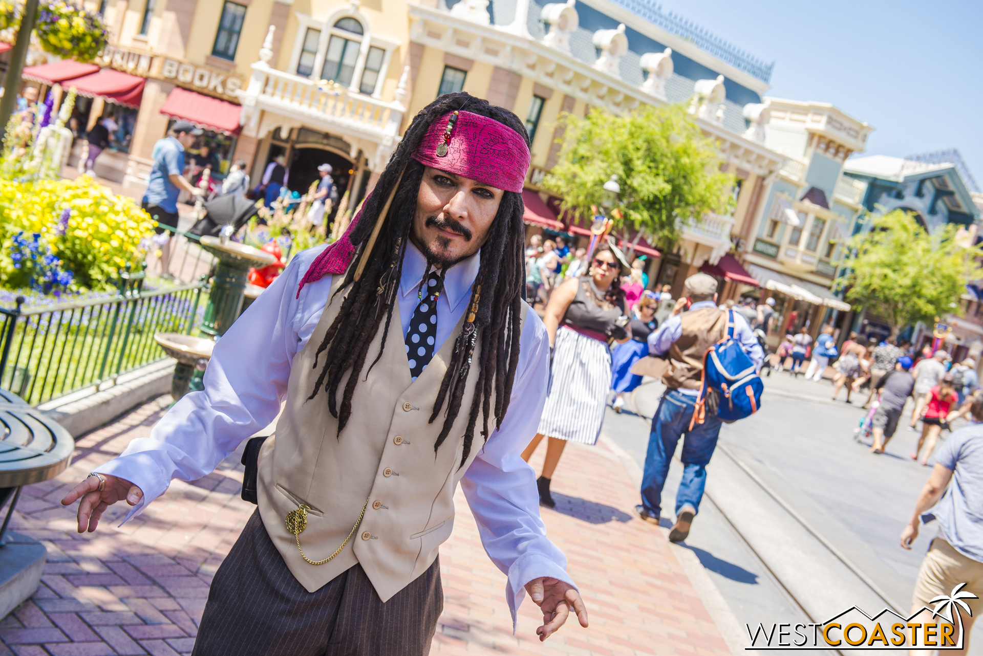On this day, he was shockingly cleaned up and going around as Dapper Jack.