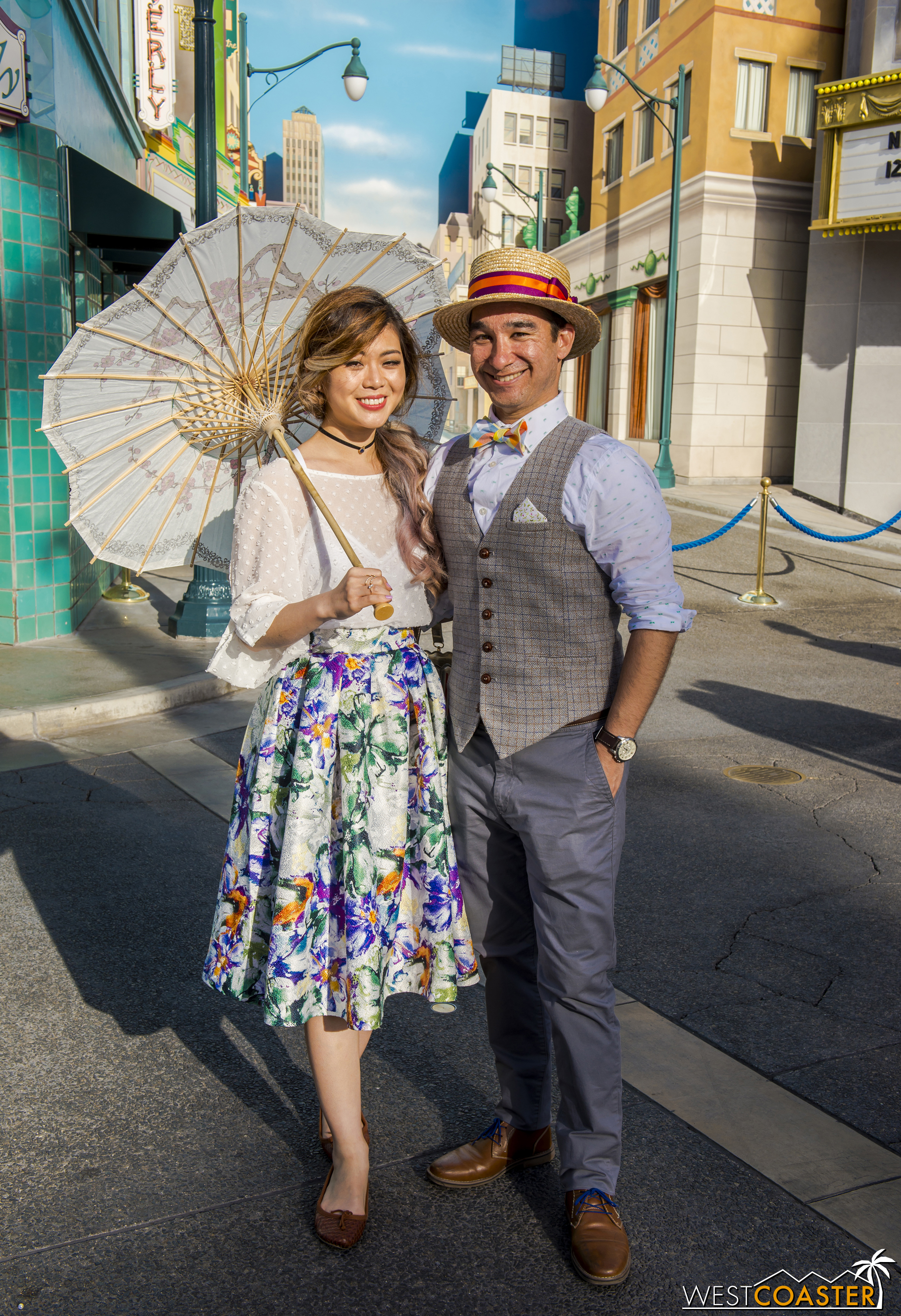 Dapper Day attracts enough people that one can run into familiar faces from past Dapper Days, as I did with this couple.