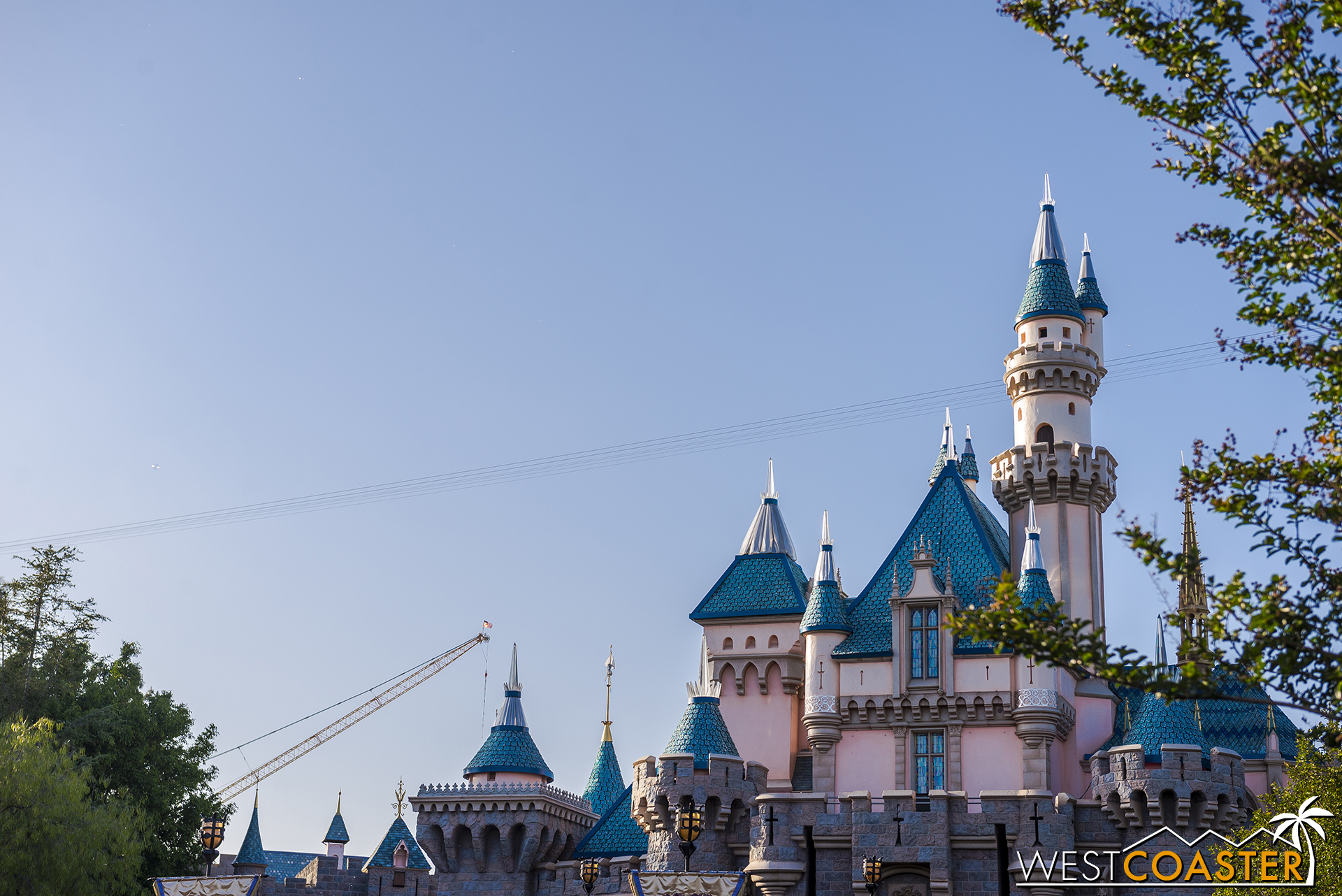 """The """"Star Wars"""" Land cranes are now visible from pretty much everywhere in the park."""