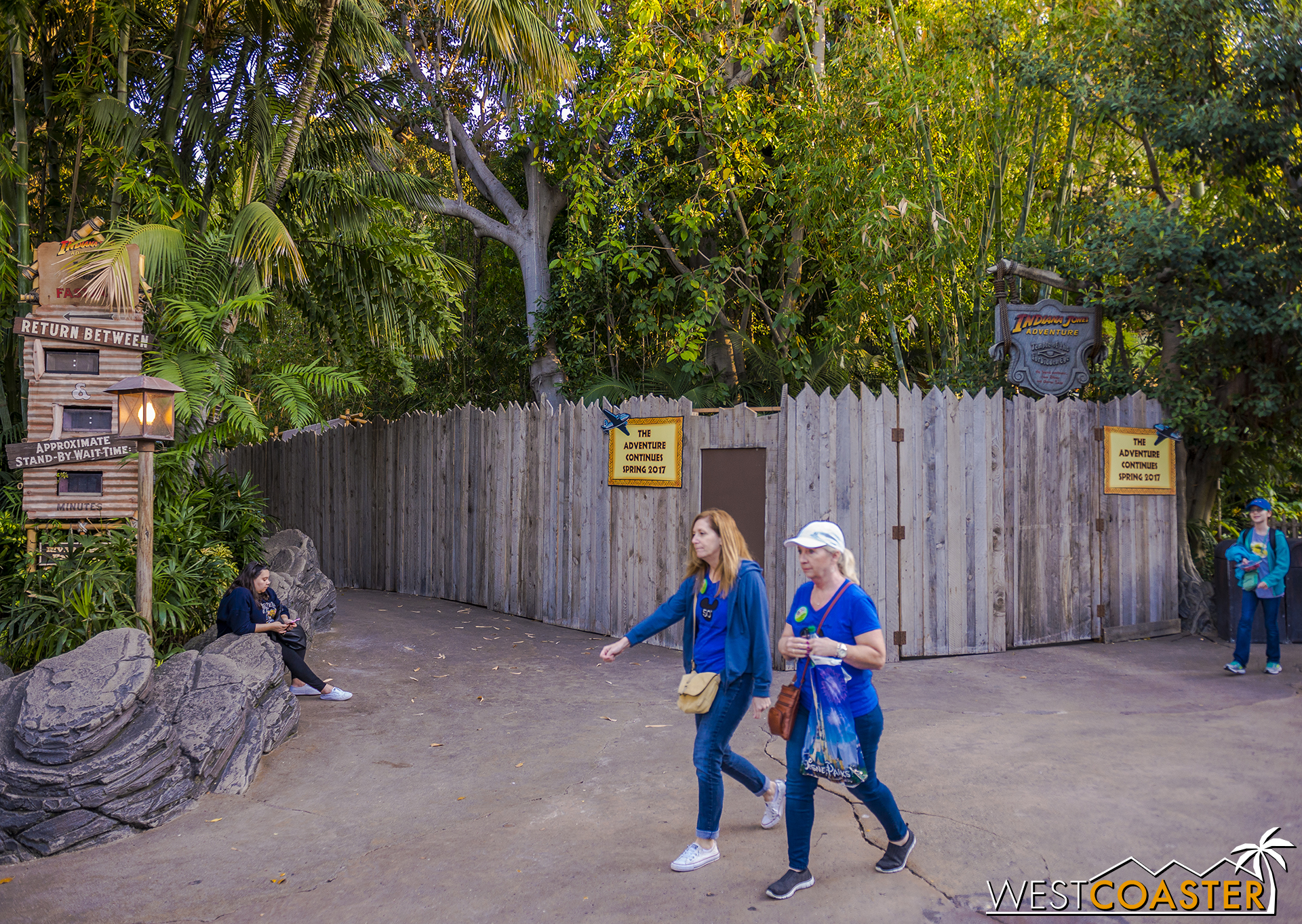 The Indiana Jones Adventure is closed for refurbishment. A bit late, might I add. So I don't expect this to last long, since summer is around the corner.