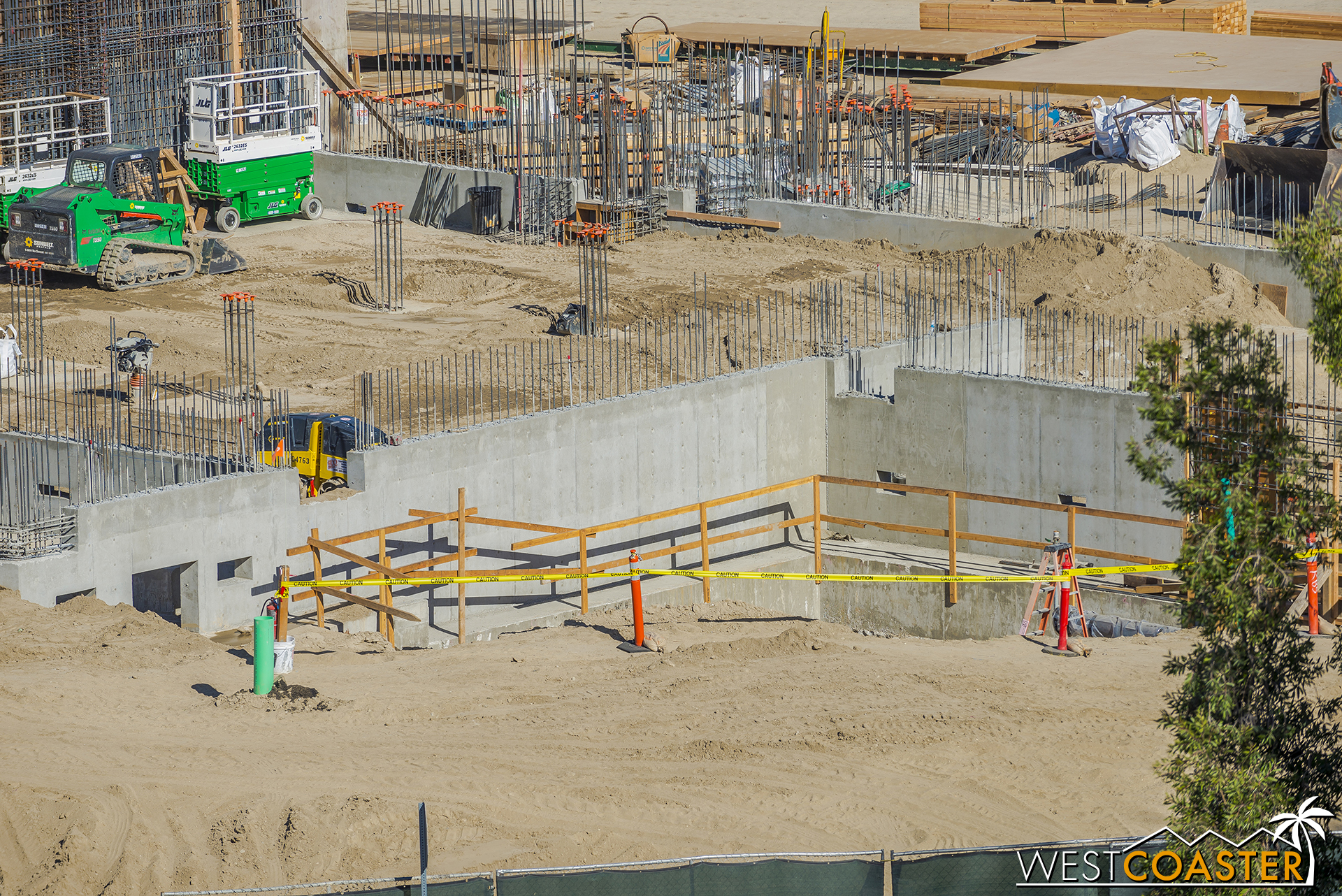 Any site groundwork has been going for utilities that will serve the show buildings.