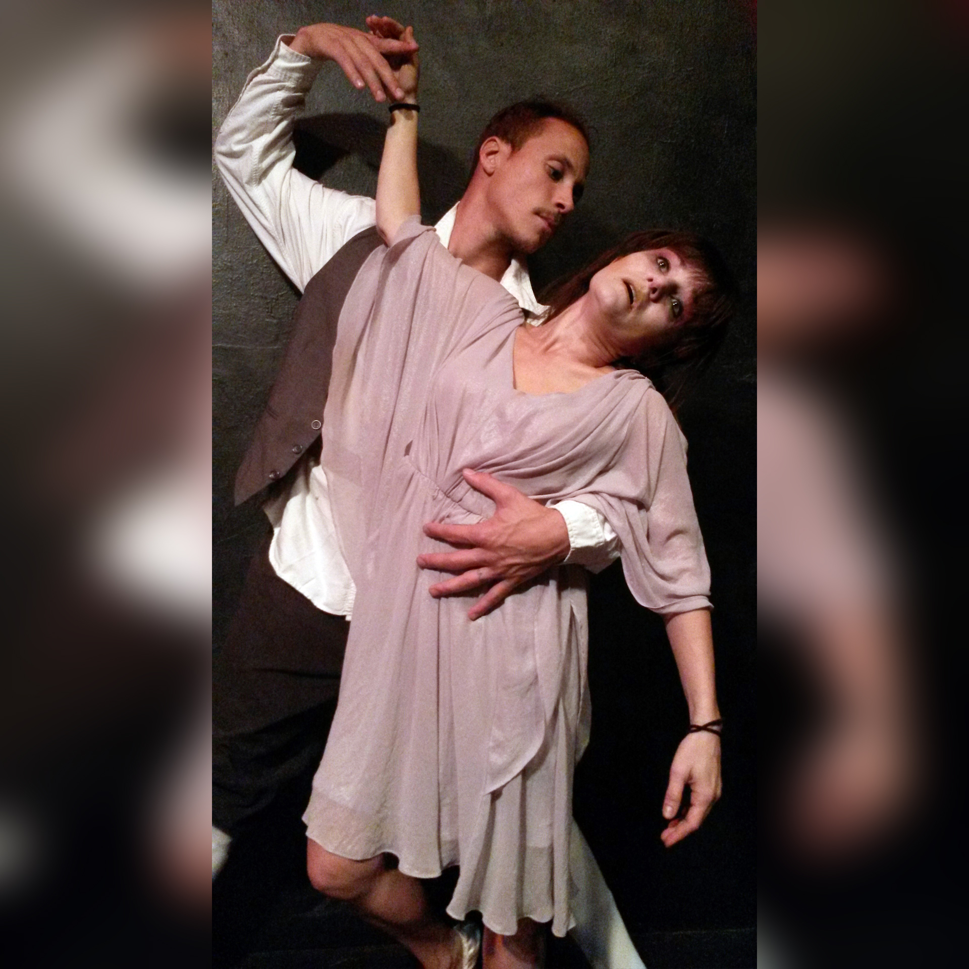 Juan Carlos Gough and Elif Savas in a haunting dance in  Blood Alley 3 . (Image courtesy of Zombie Joe's Underground Theatre.)