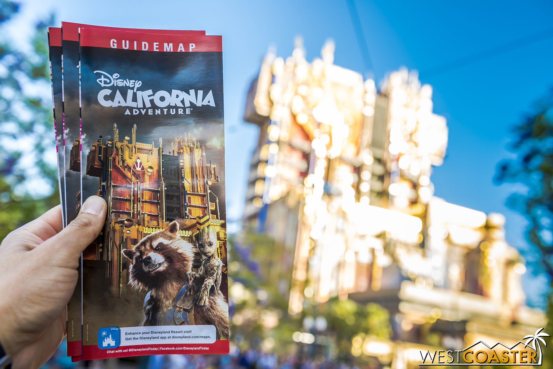 """New maps for DCA to celebrate the """"new"""" ride."""