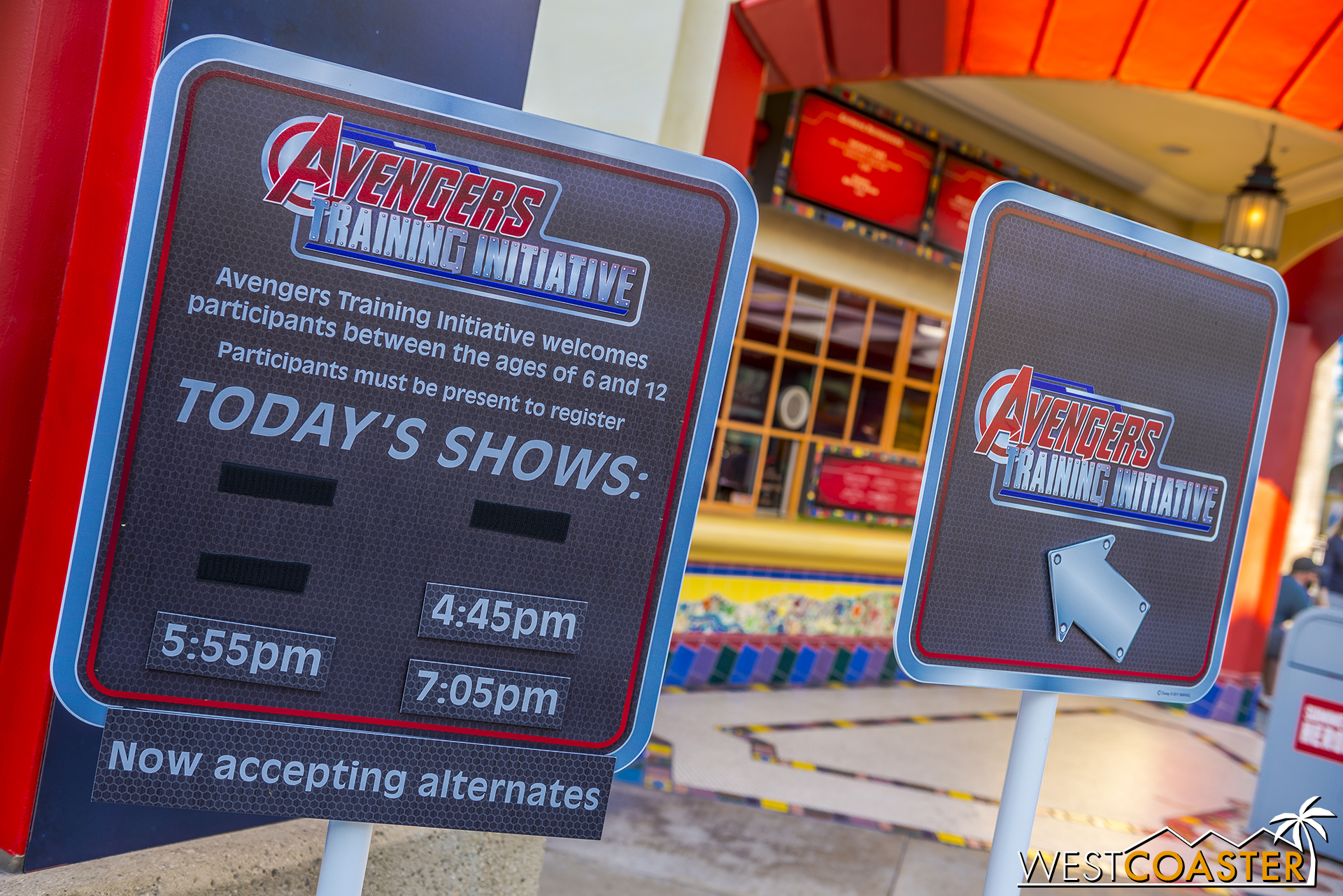 Avengers Training Initiative takes place in the Hollywood Backlot stage area, across from Monsters, Inc. Think of the Jedi Training Academy, but with Avengers.