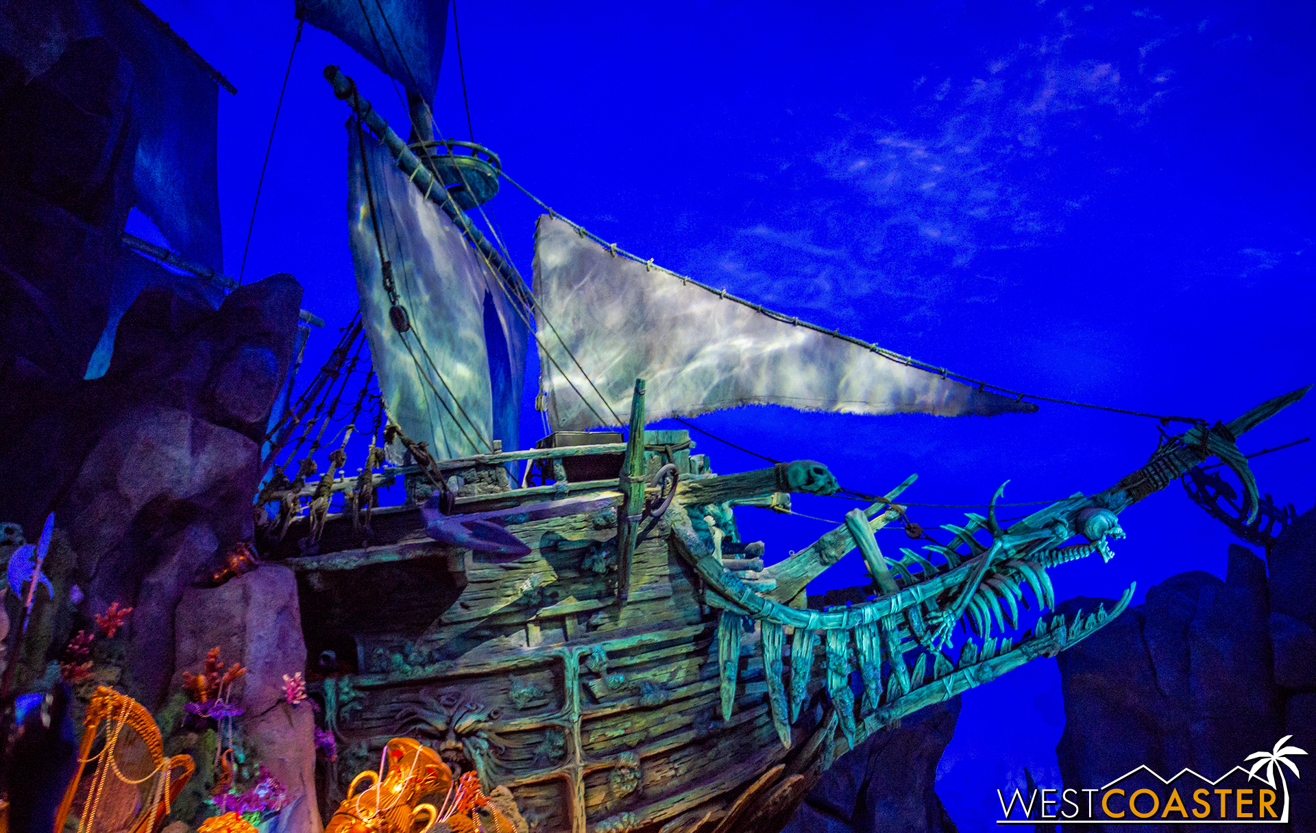 A scene from Pirates of the Caribbean: Battle for the Sunken Treasure.