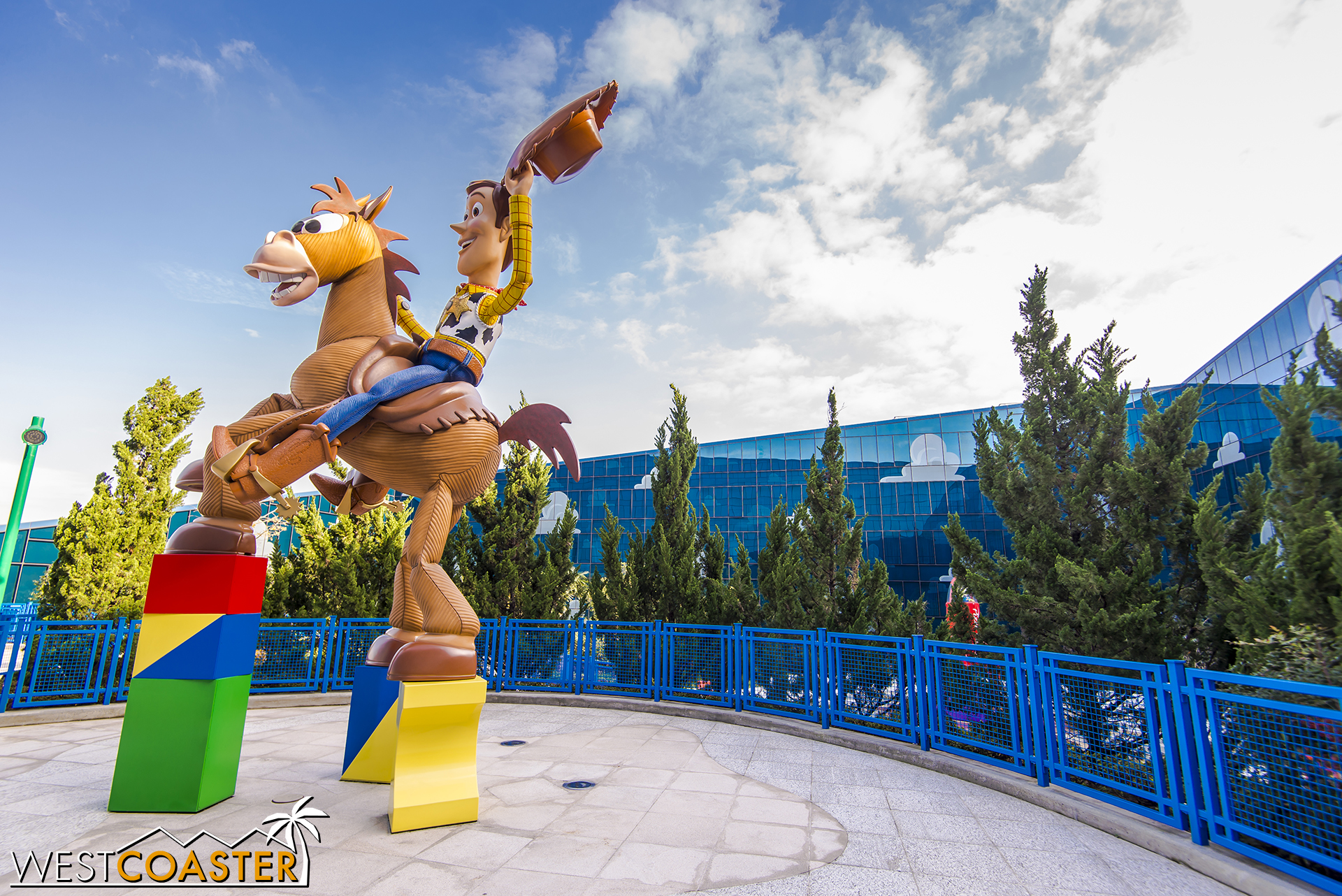 Plaza within the Toy Story Hotel.