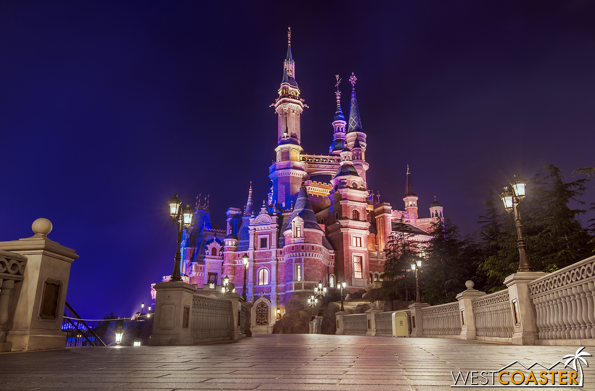 The castle after closing hours.