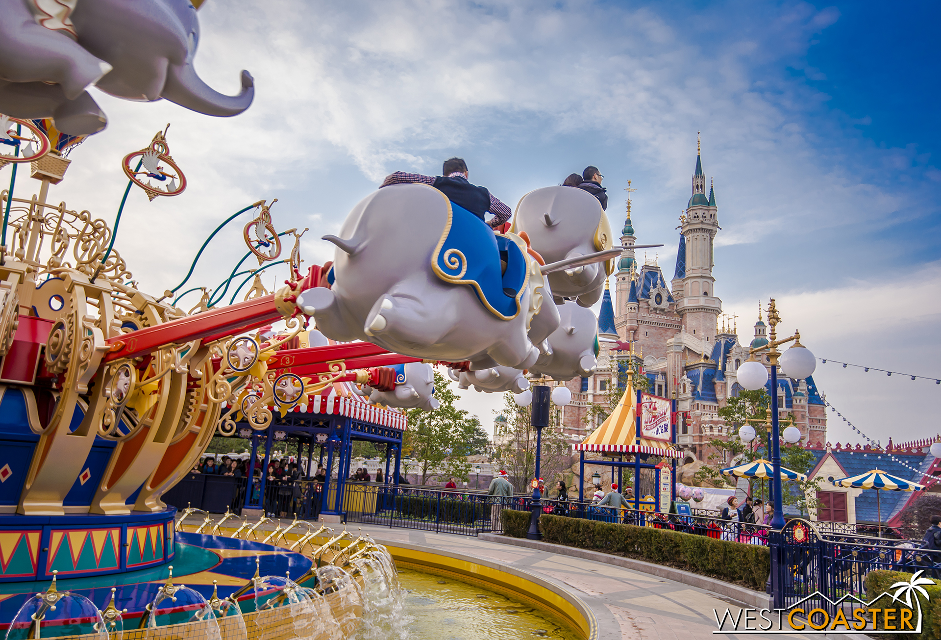 There is a Dumbo Flying Elephant ride in the Gardens of Imagination.