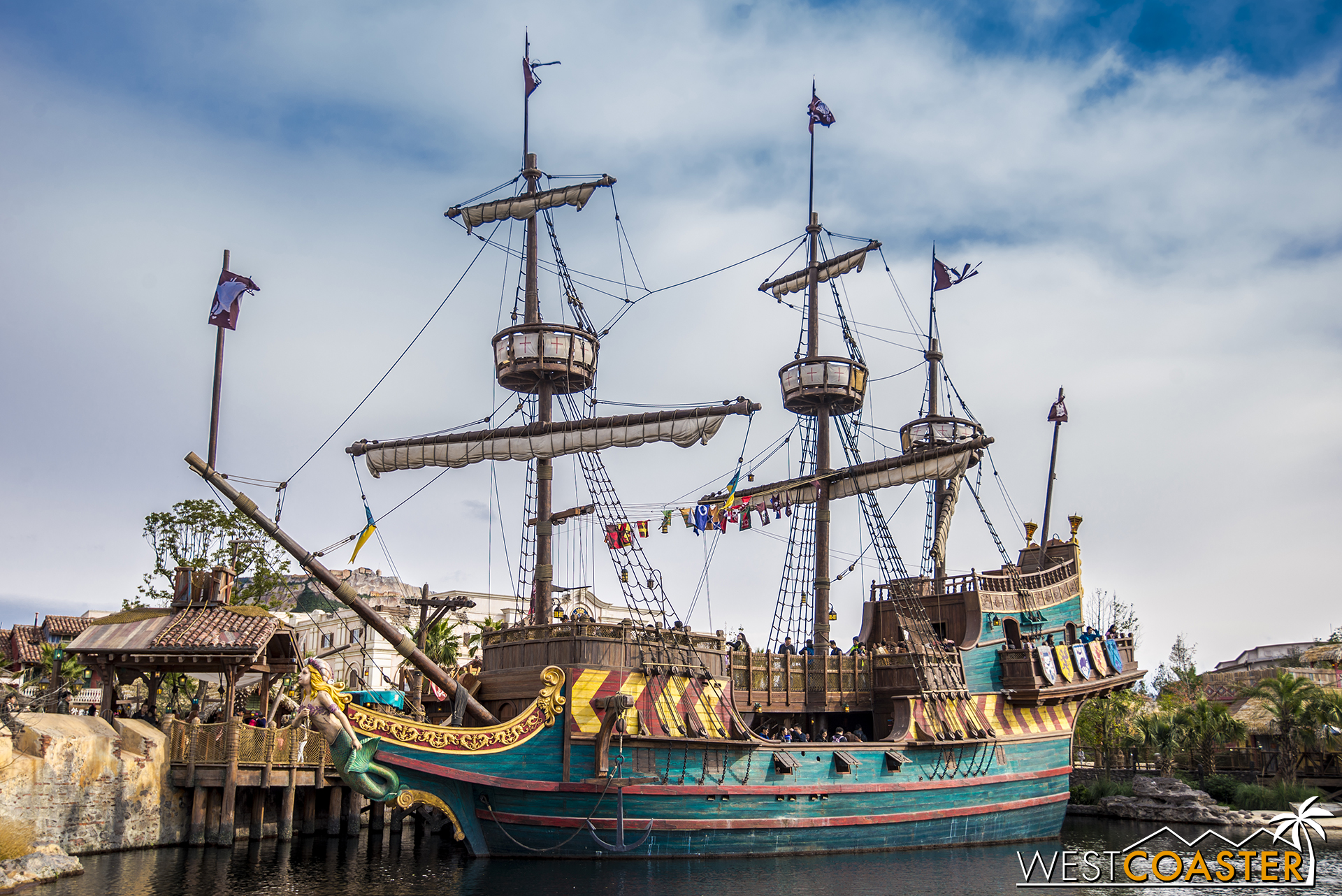 Another galleon docked at Treasure Cove.