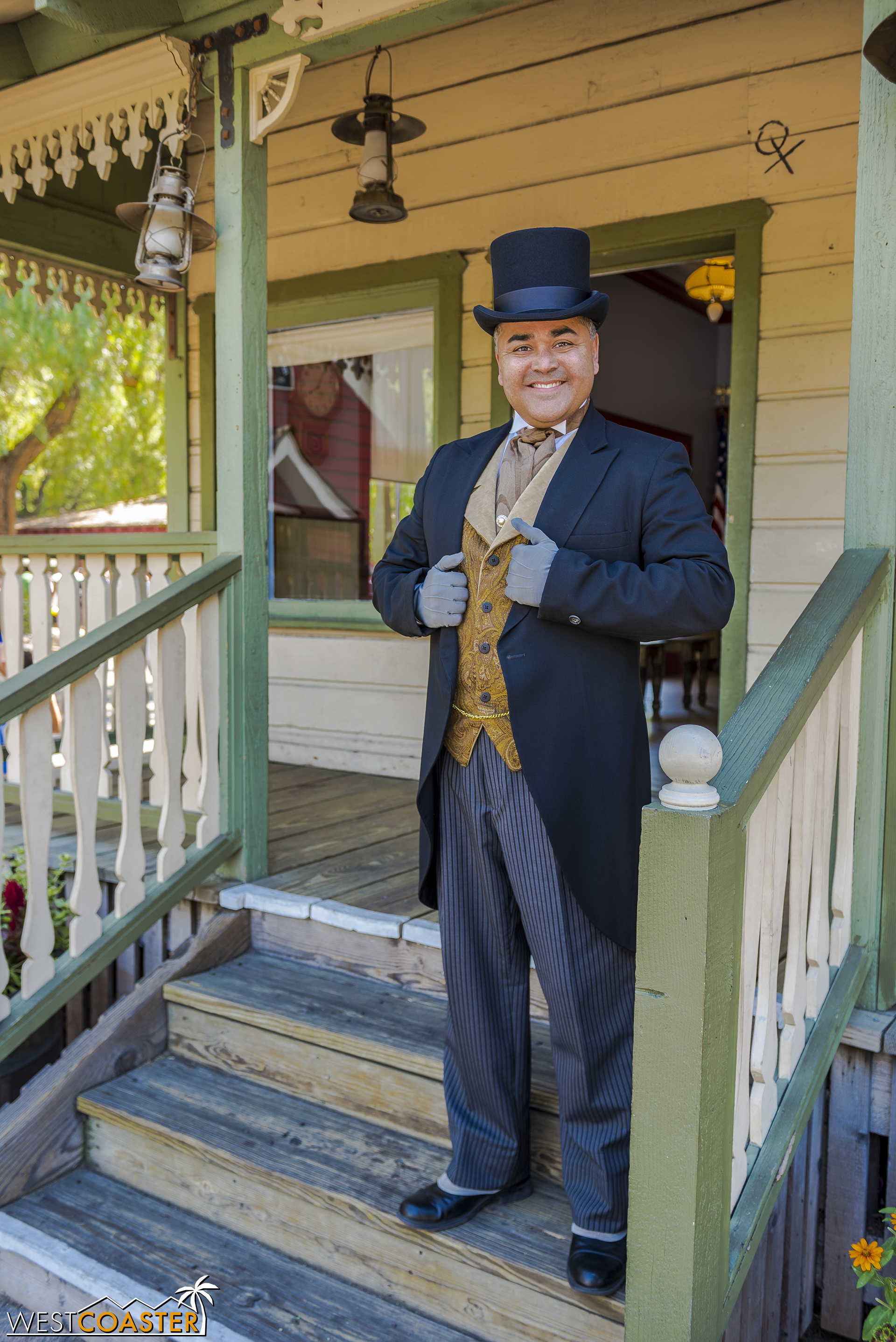 """Mayor Horton Parnell poses outside his hall. On this day, his wife, Pearl Parnell, was off """"traveling."""""""