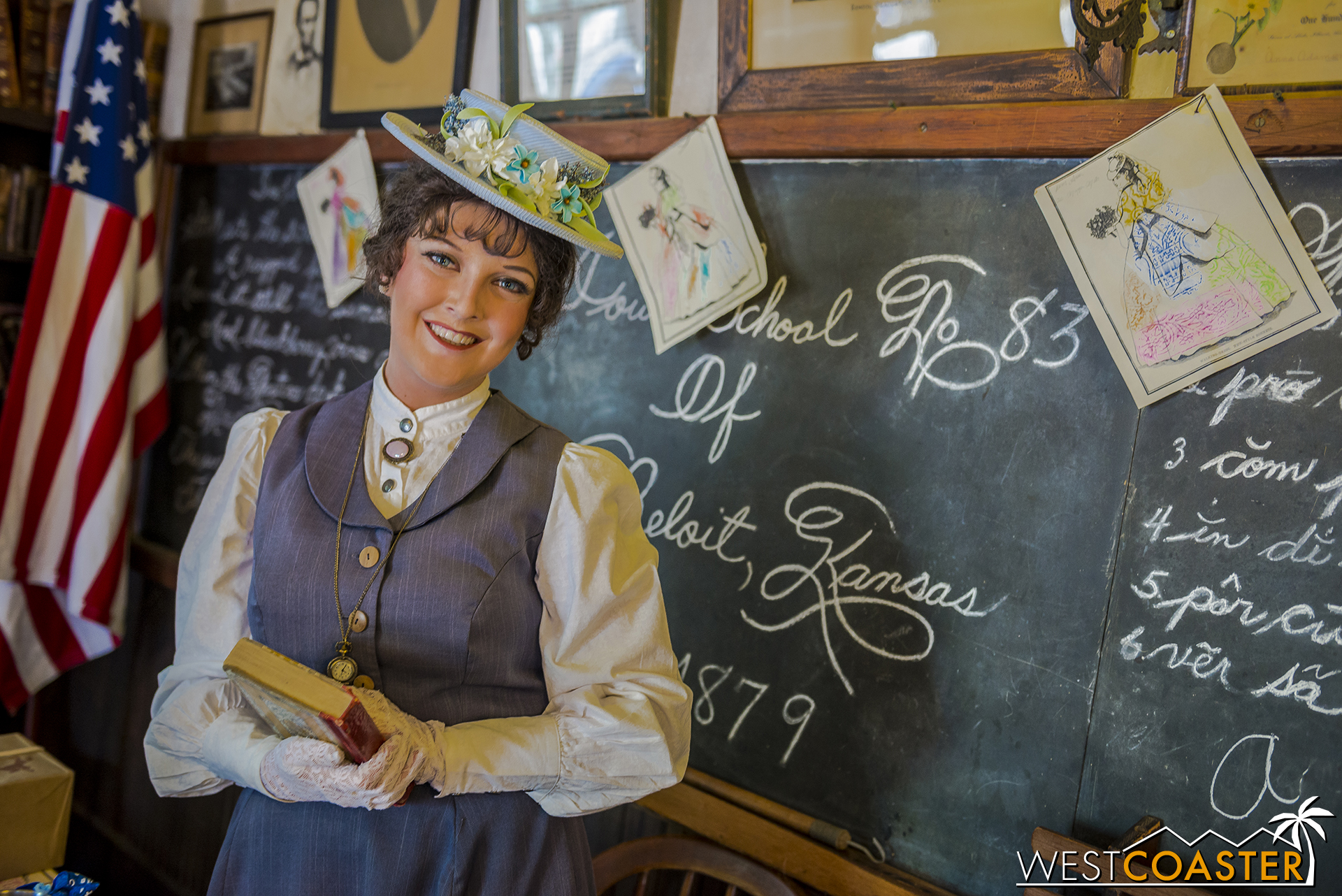 Meanwhile, Maggie Mills is the head schoolteacher in the Schoolhouse itself.