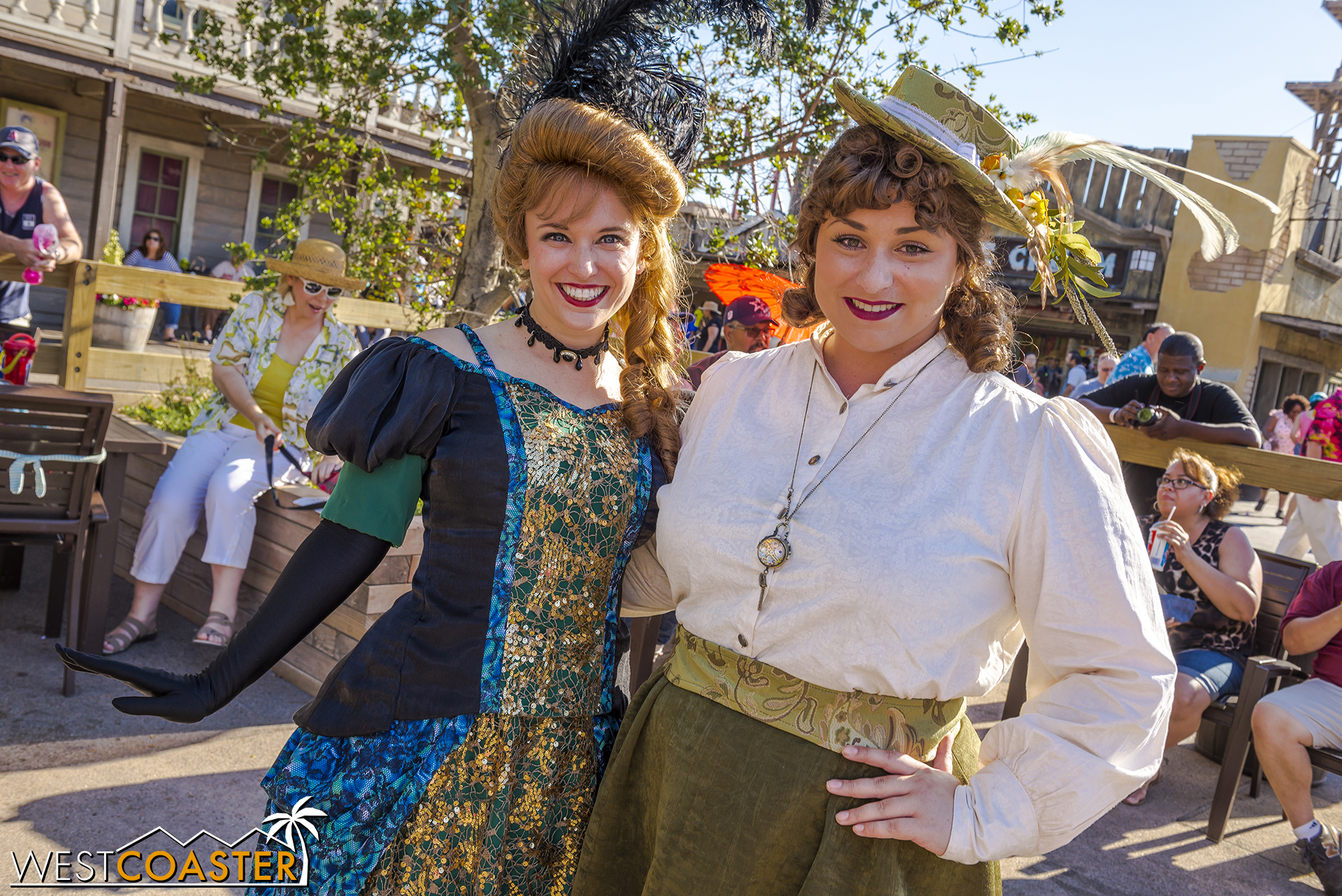 She's friends with the Calico Saloon cast.