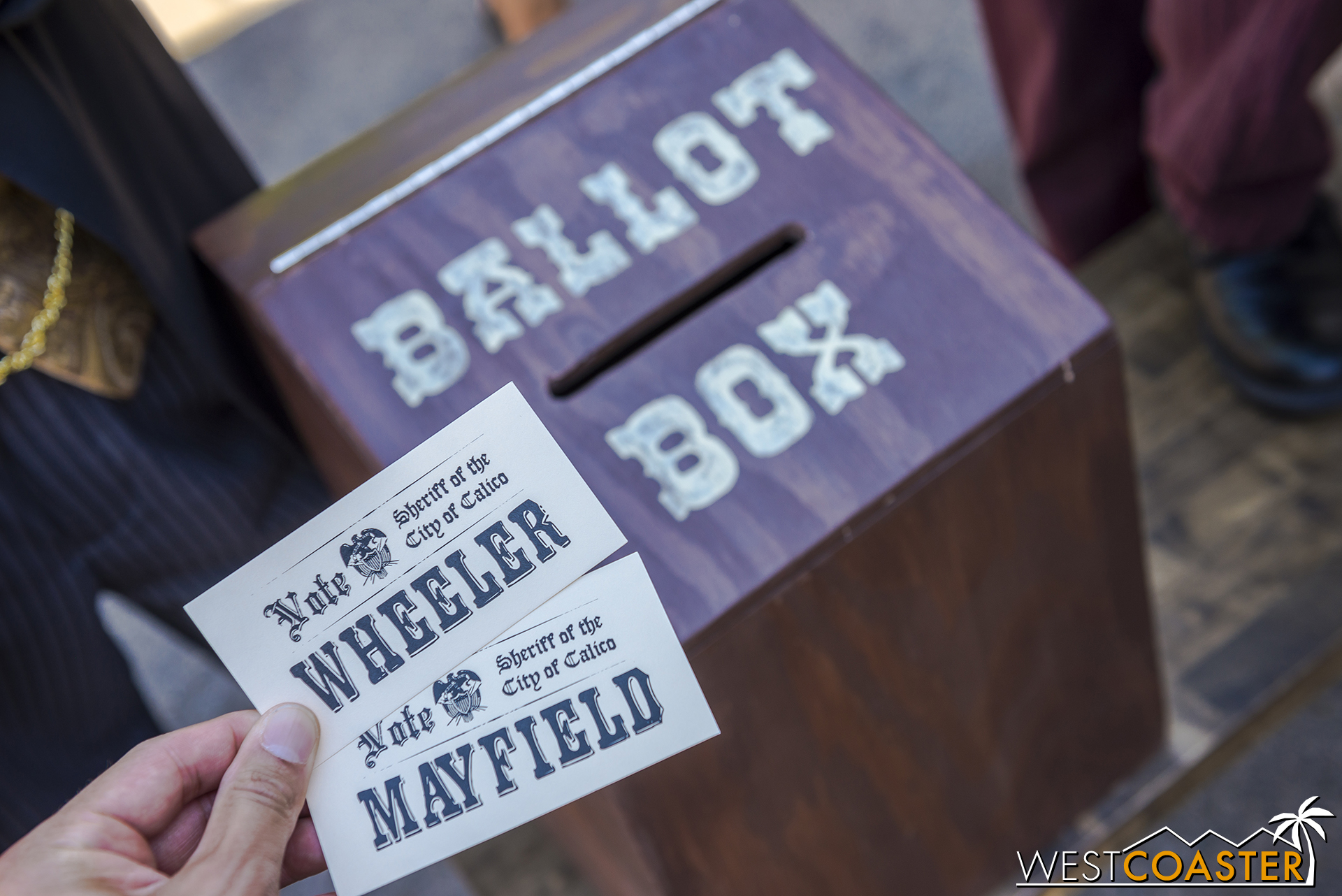 It's open to all citizens (and guests). Vote for Wheeler or Mayfield. The votes all actually count.