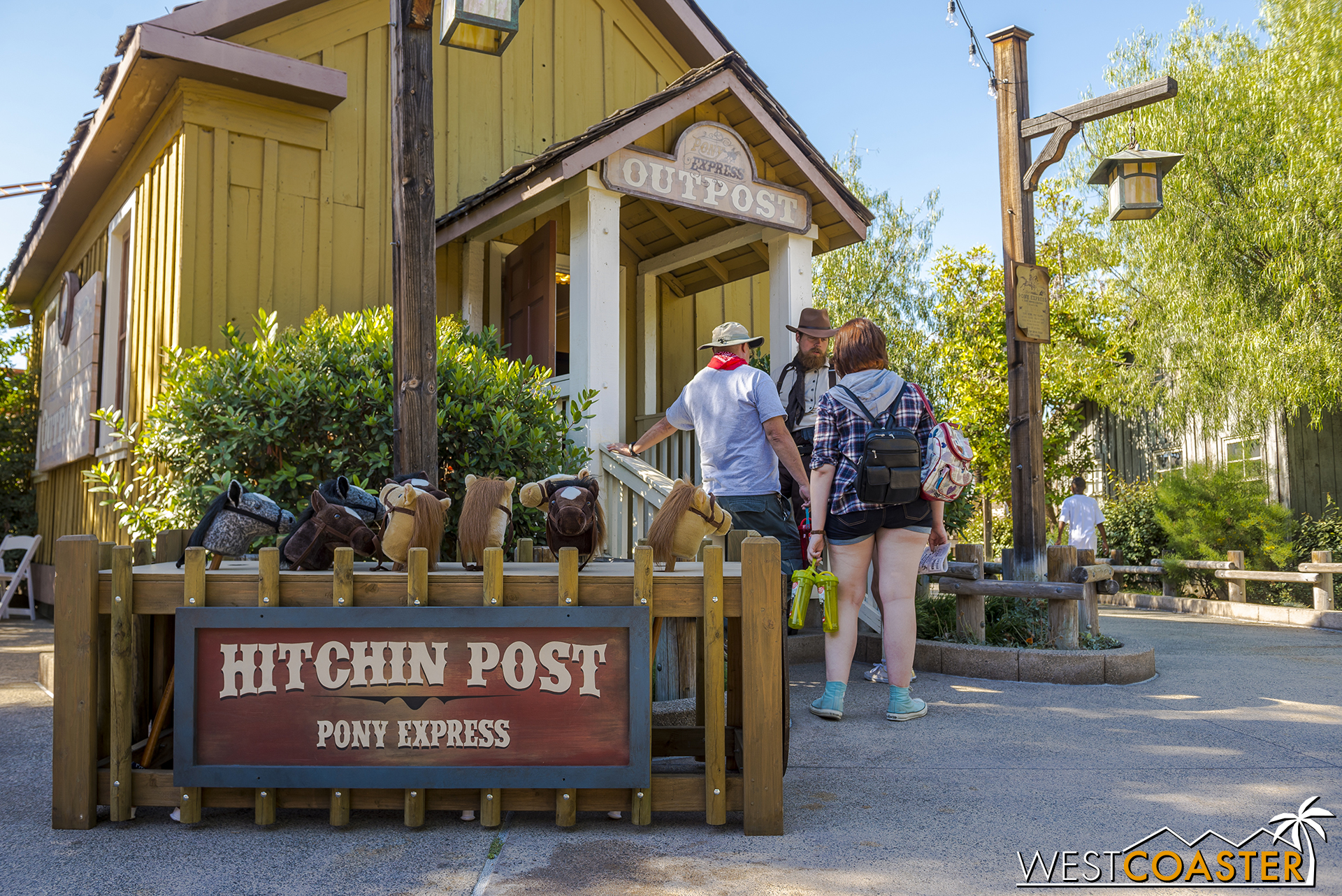 Over near the Pony Express roller coaster, a Pony Express office has opened.