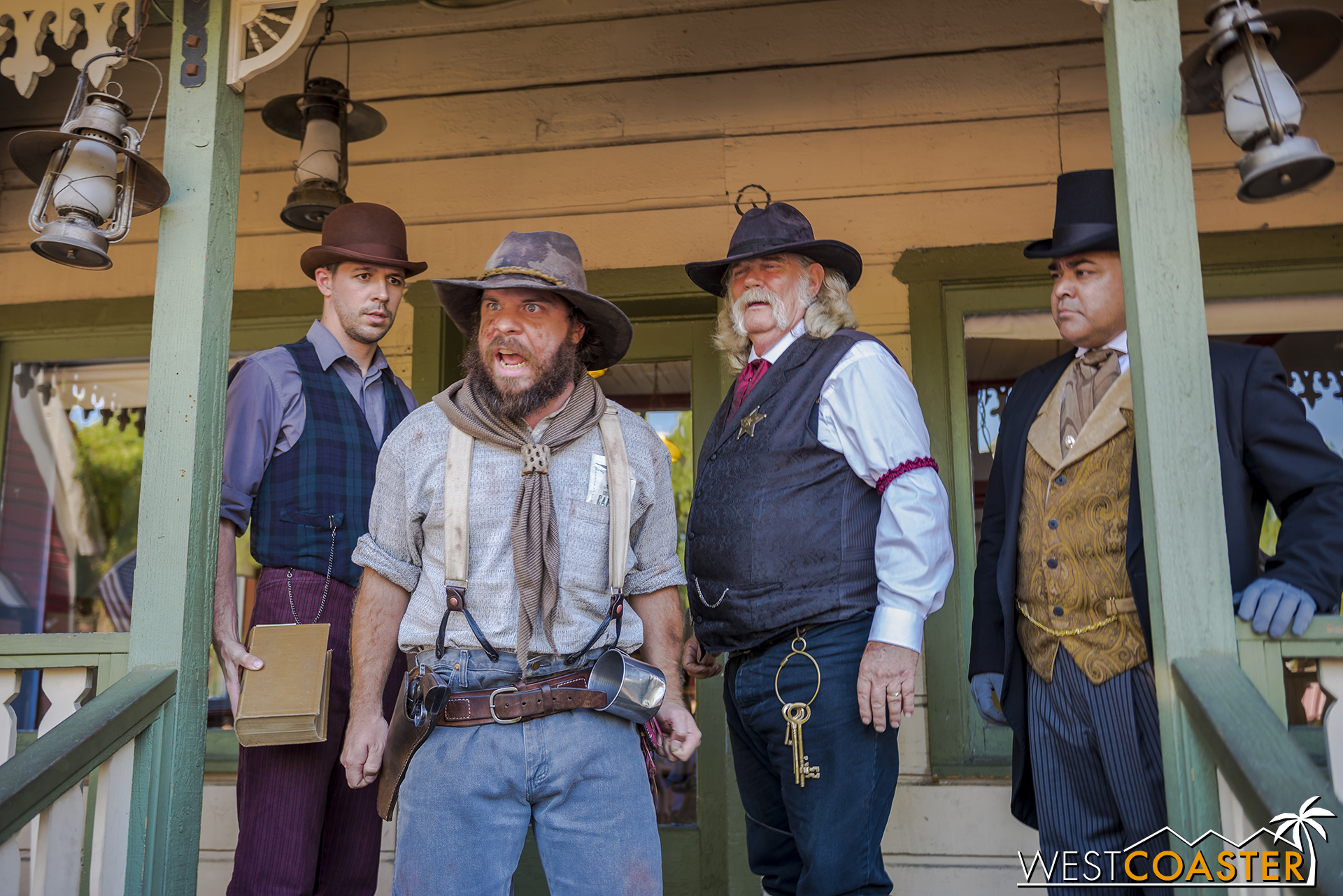 Tiny cannot help but make his displeasure known and even accuses Sheriff Wheeler of being responsible for throwing Mudd Mayfield to his death last year while pursuing Ox Mayfield and the stolen steam engine--a claim that the Sheriff rejects and attributes to an unfortunate accident.