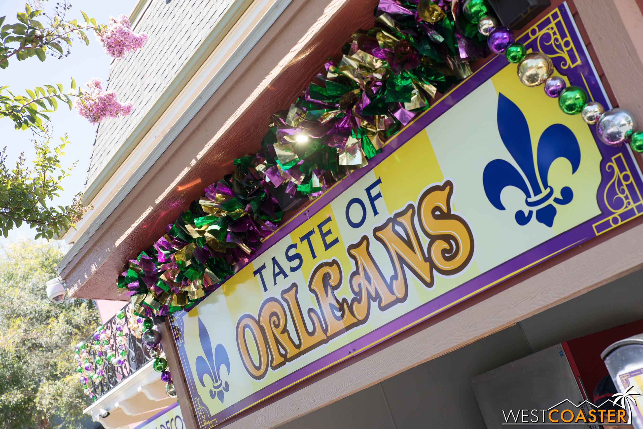 Signage. Not New Orleans Square. Not bitter for Jim tricking me...  ....ALL I WANTED WAS BLACKBERRY BEIGNETS.