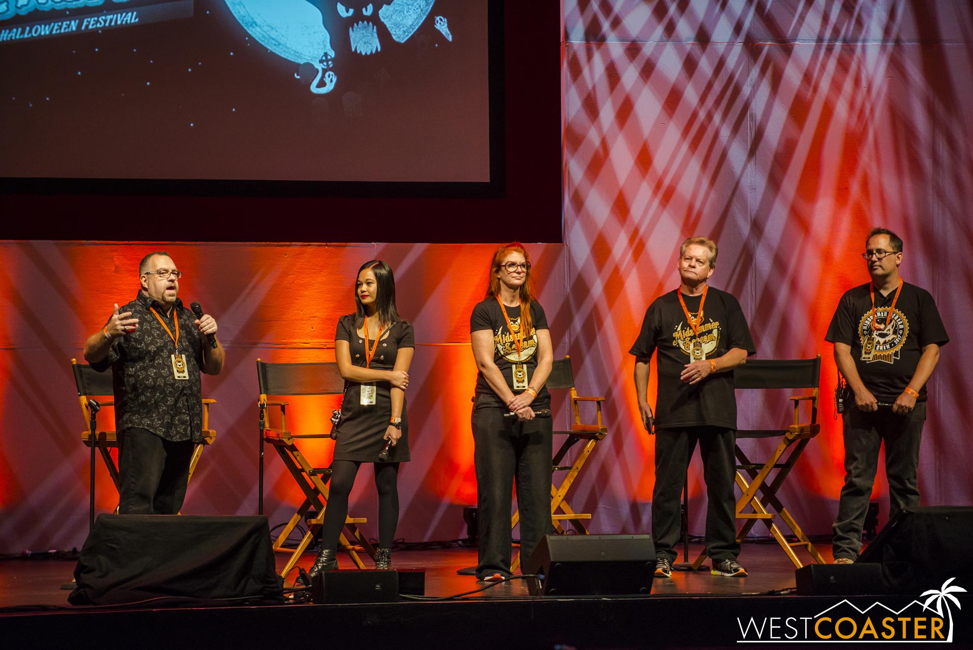 The 2017 Midsummer Scream creative team (L-R) Rick West, Johanna Atilano, Claire Dunlap, Gary Baker, and David Markland.