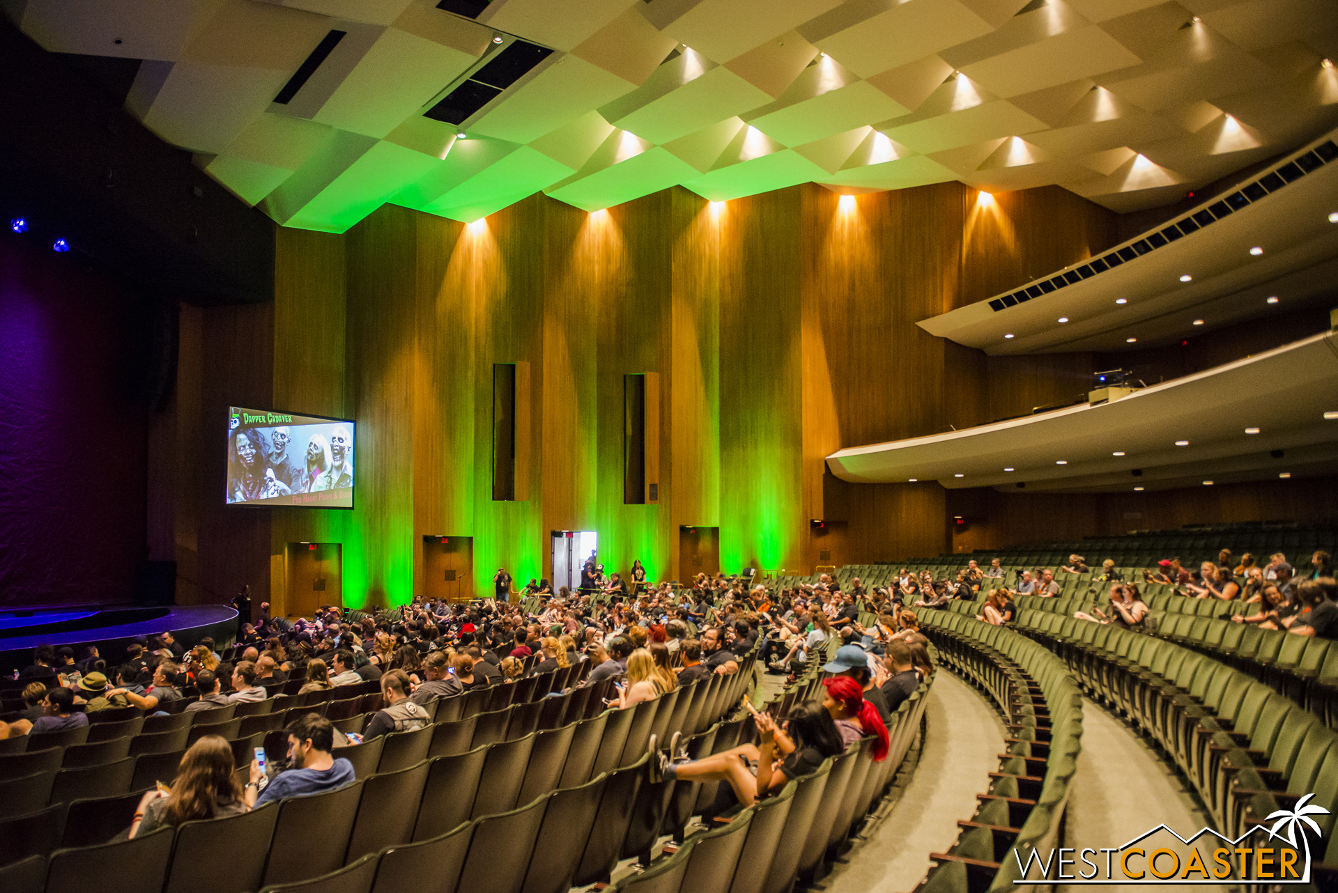 The Terrace Theater offered a huge space for the marquee panels of the weekend.