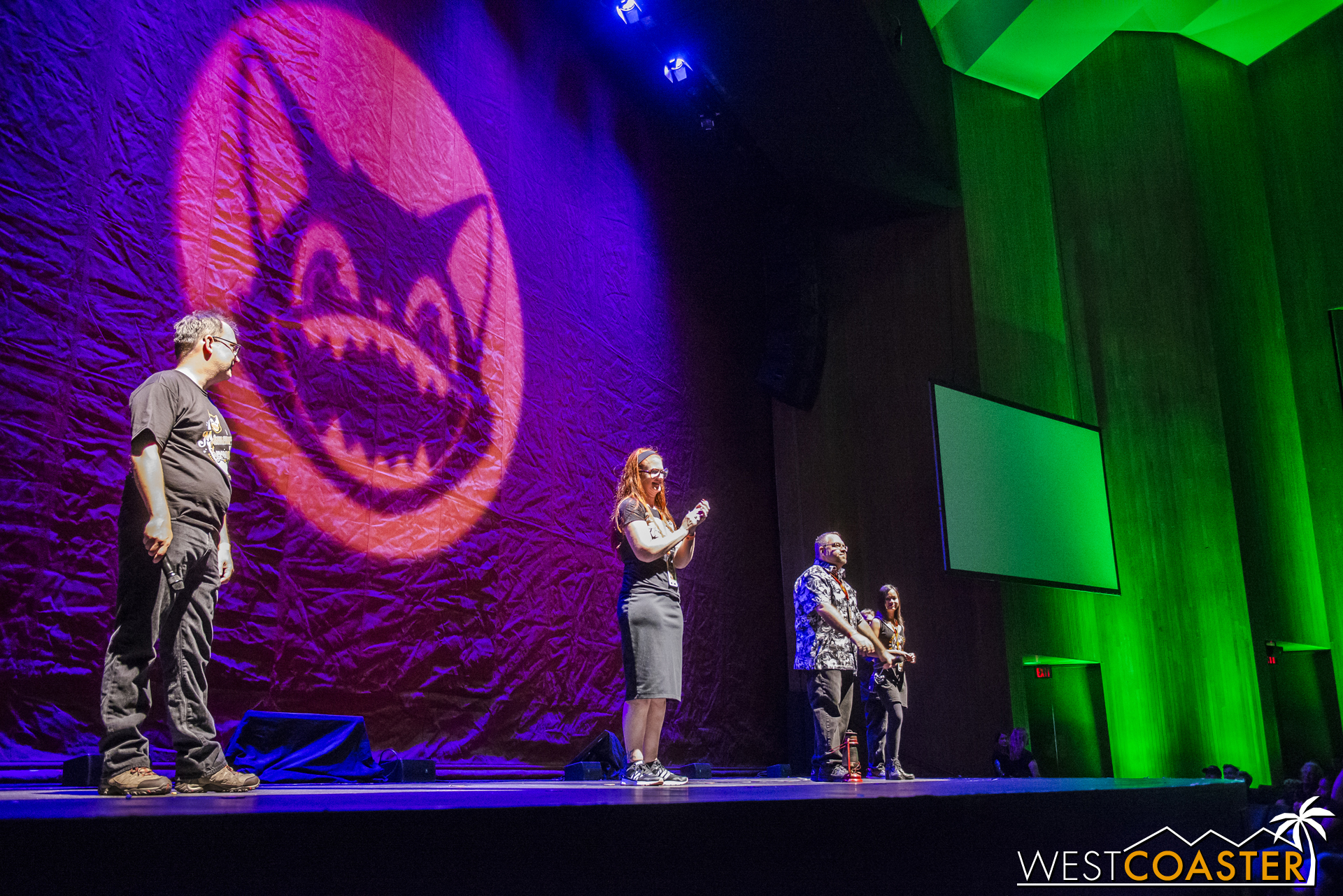 The Midsummer Scream creative team gives opening remarks before making way for the Tower of Terror talk.