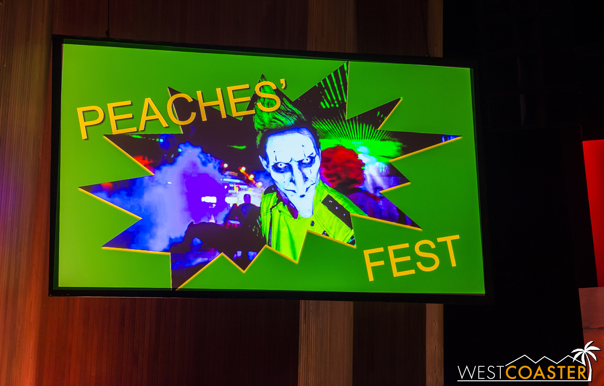 Initially, Peaches the Clown hijacked the show and tried to convince everyone that this year, Fright Fest would actually be Peaches' Fest.