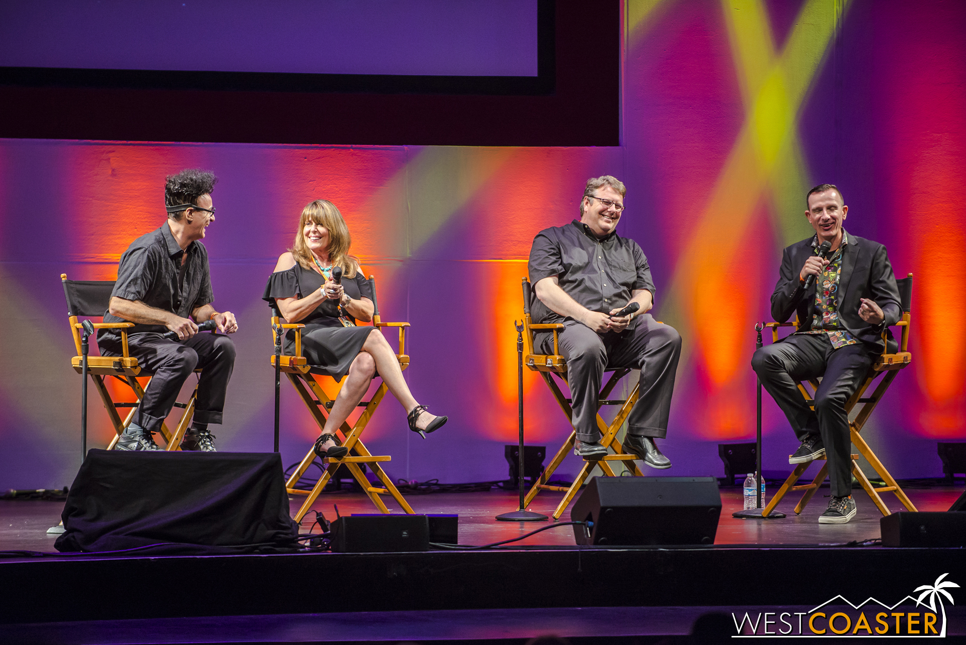 (L-R) Ed Alonzo, Vickie Yahn, and Ken Parks discuss entertainment at Knott's Scary Farm.