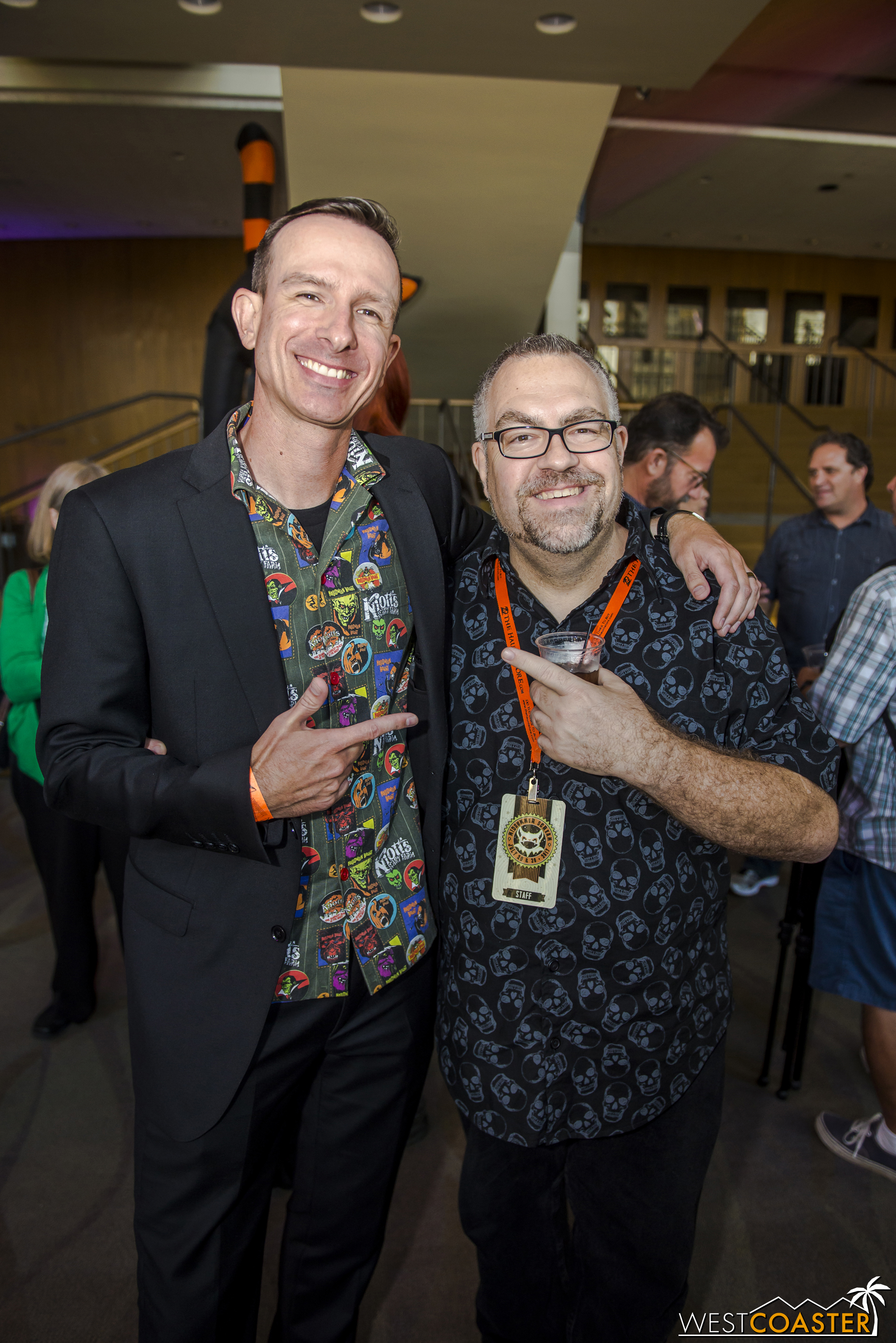 Ted Dougherty and Rick West basking in the success of the panel--eight months after the germination of the first idea over drinks at IAPPA.