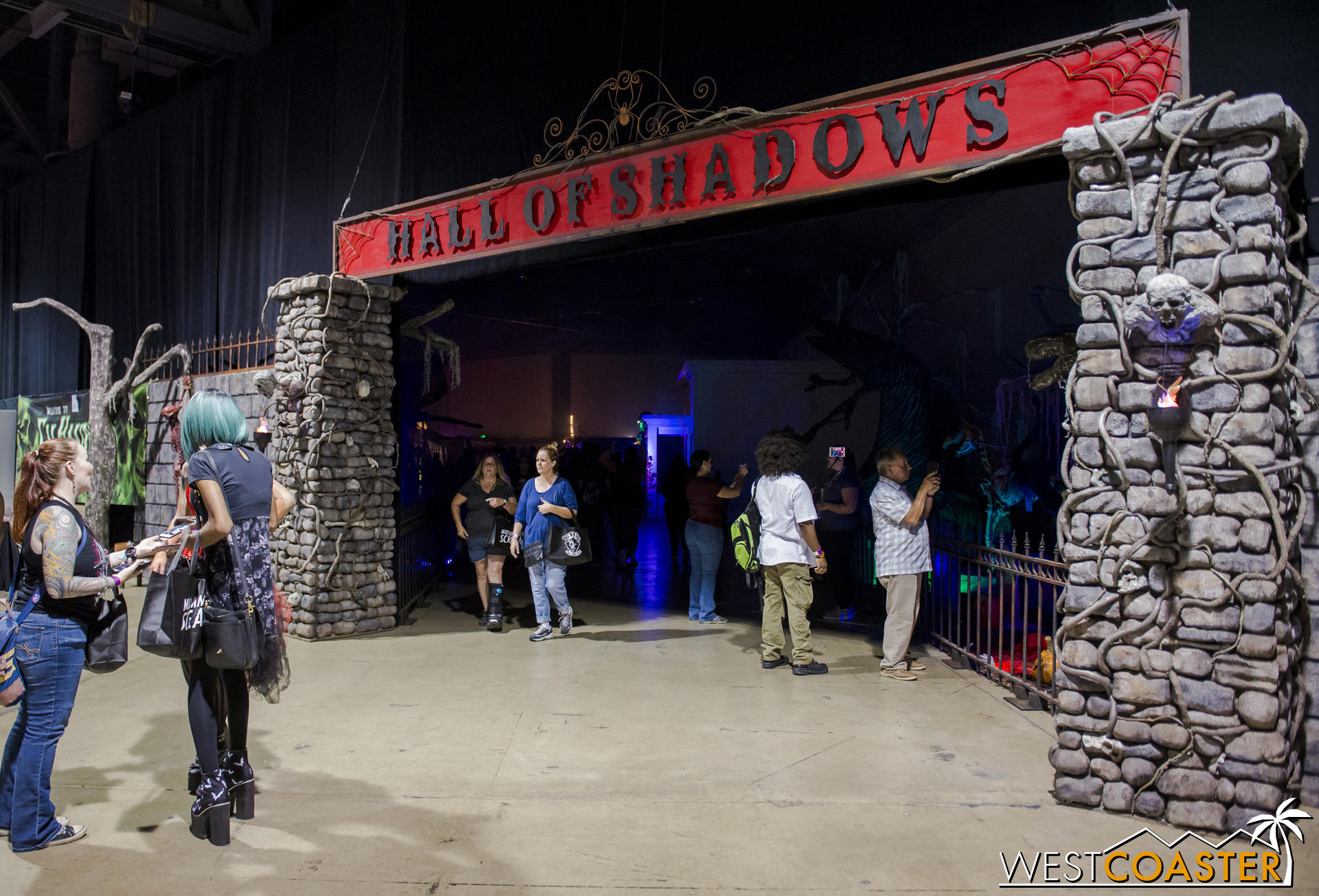 The entrance to the Hall of Shadows was beside the exhibition hall, identical to last year.