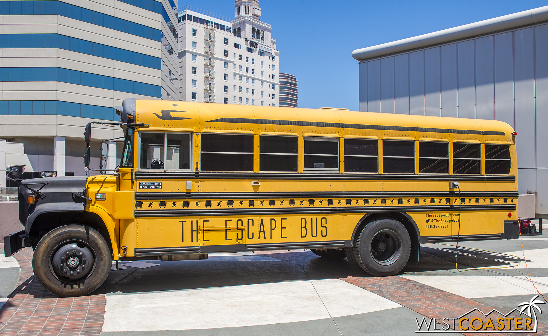 Just outside the convention center building, guests could also try their hand at an escape room bus!