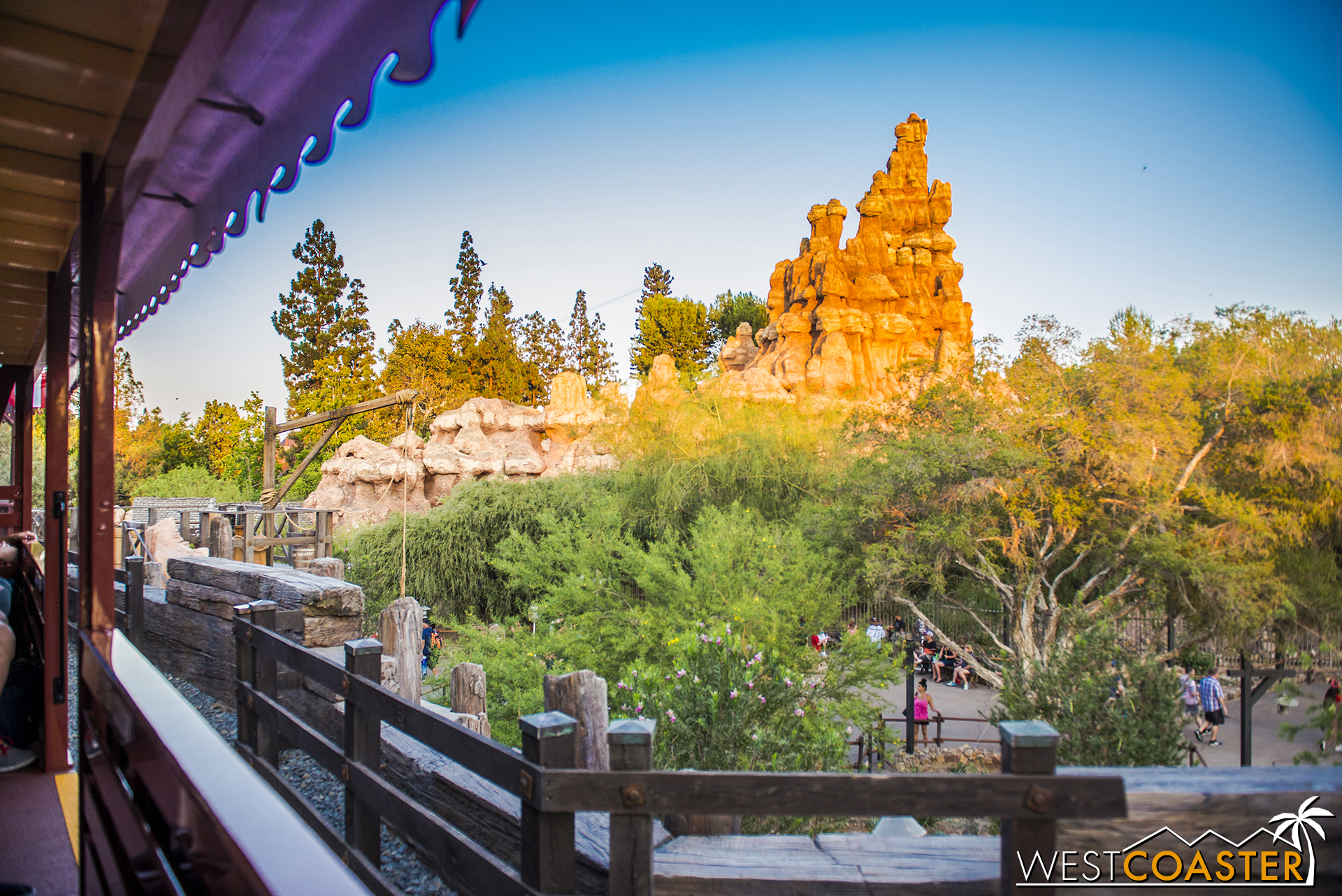 We get a nice view of the buttes of Big Thunder Mountain.